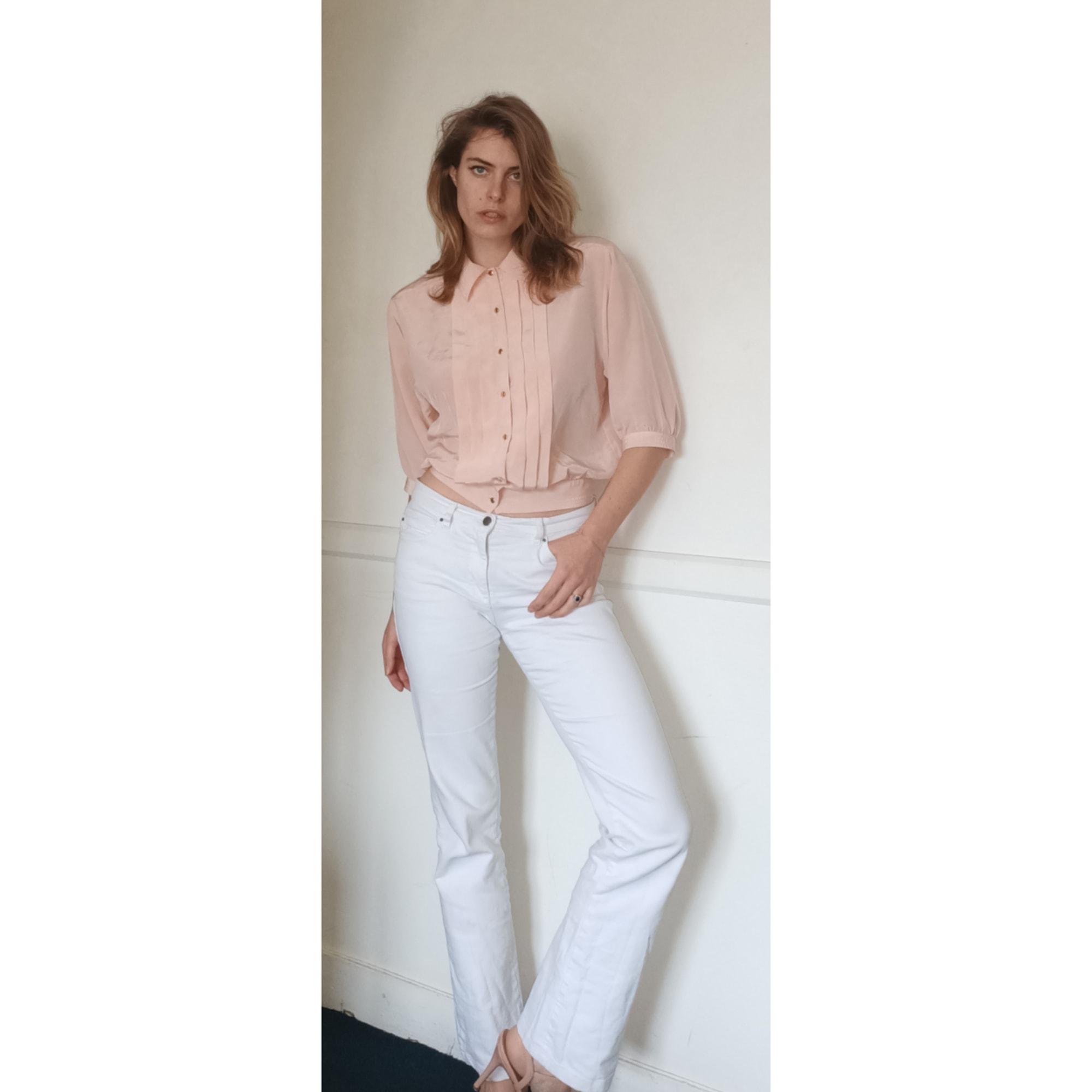 Jeans évasé, boot-cut VINTAGE Blanc, blanc cassé, écru