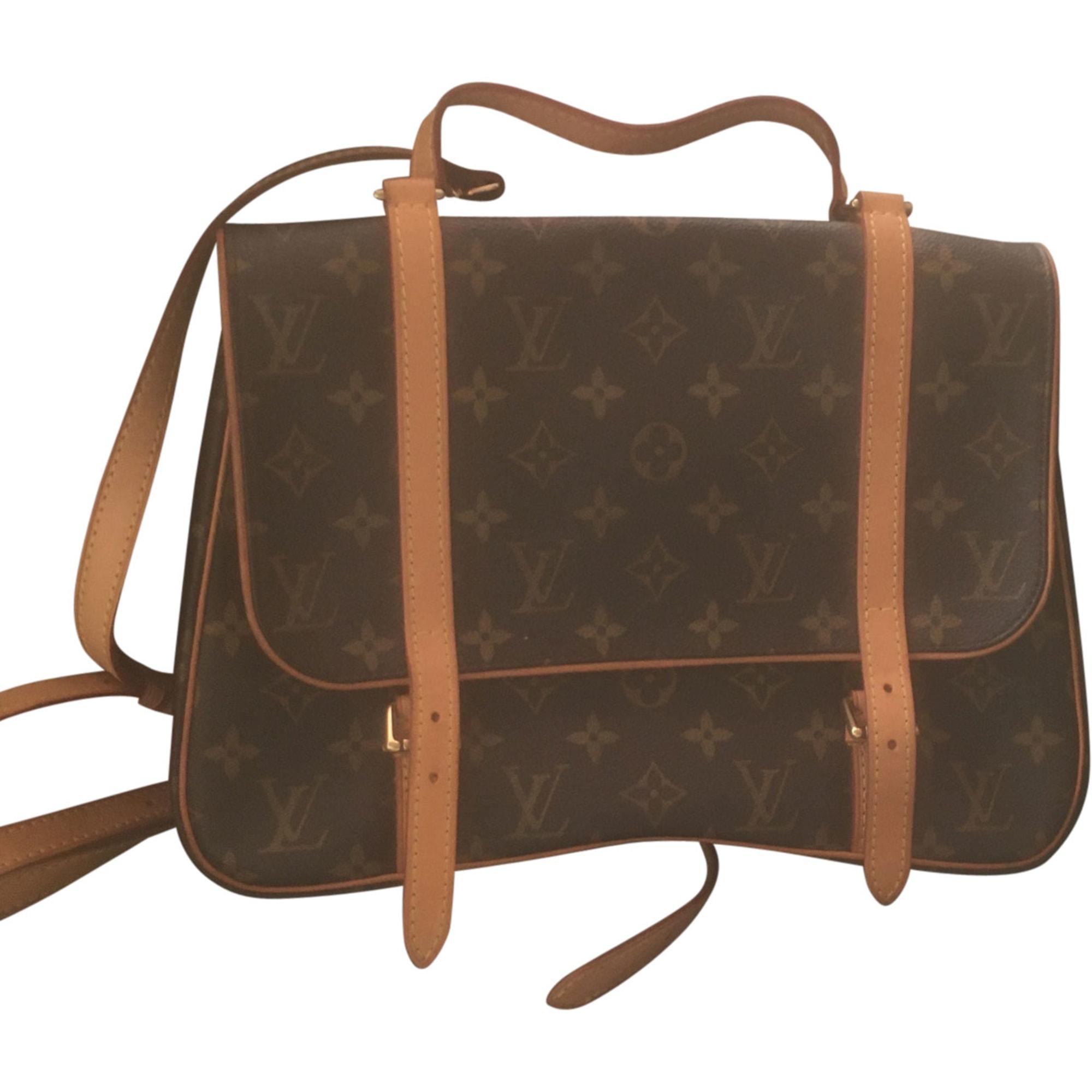 Leather Handbag LOUIS VUITTON Monogramme louis Vuitton