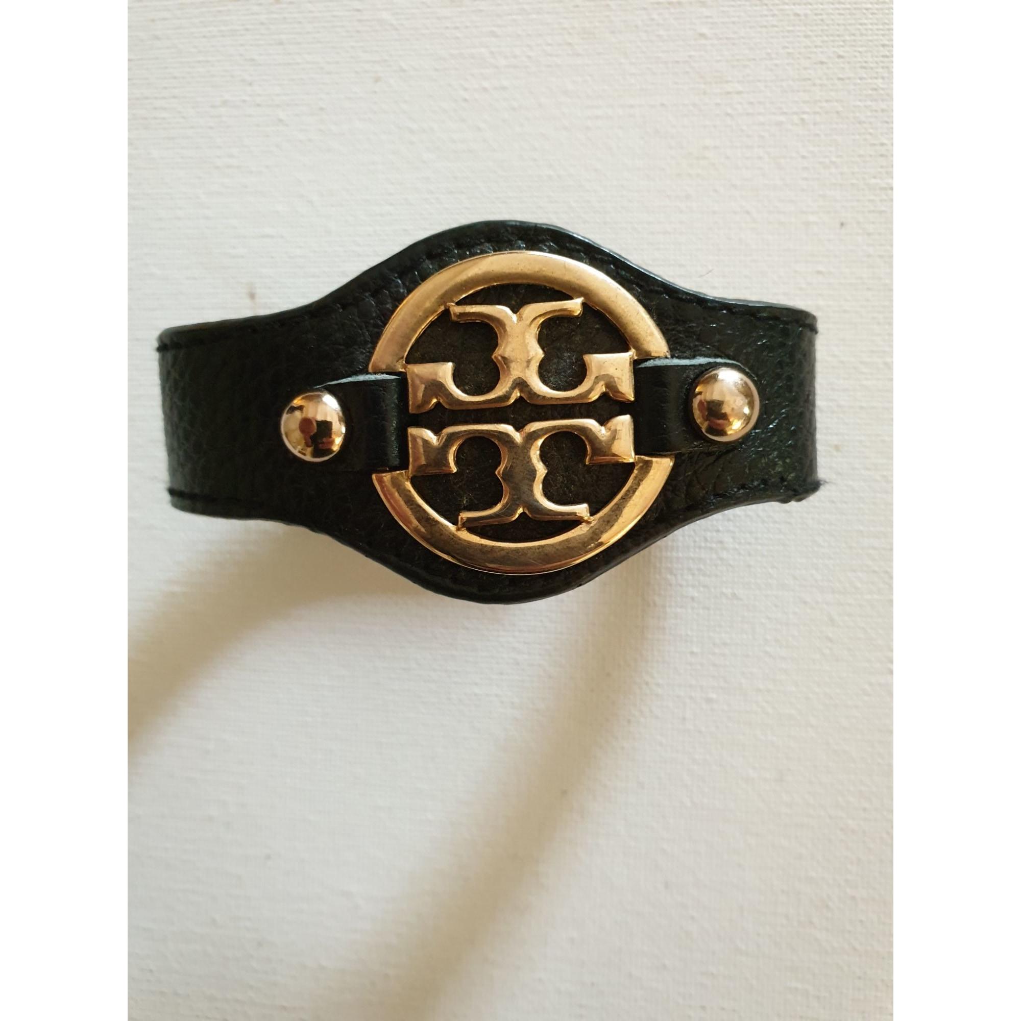 Bracelet TORY BURCH cuir noir