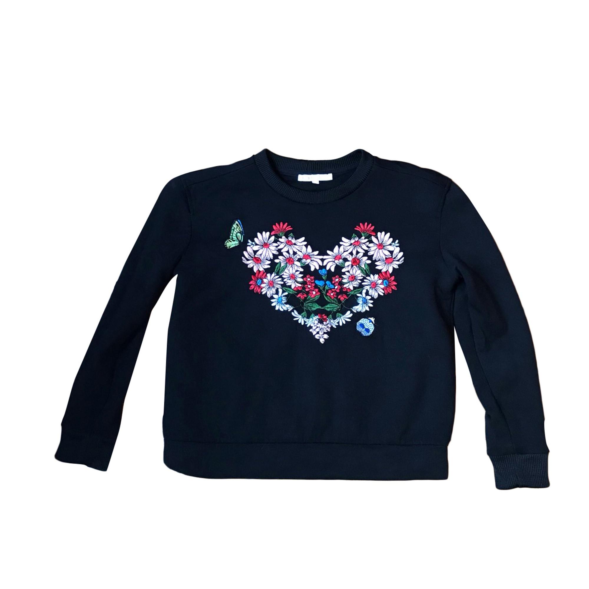 Maje Top, tee-shirt viscose animalier 36 (S, T1)
