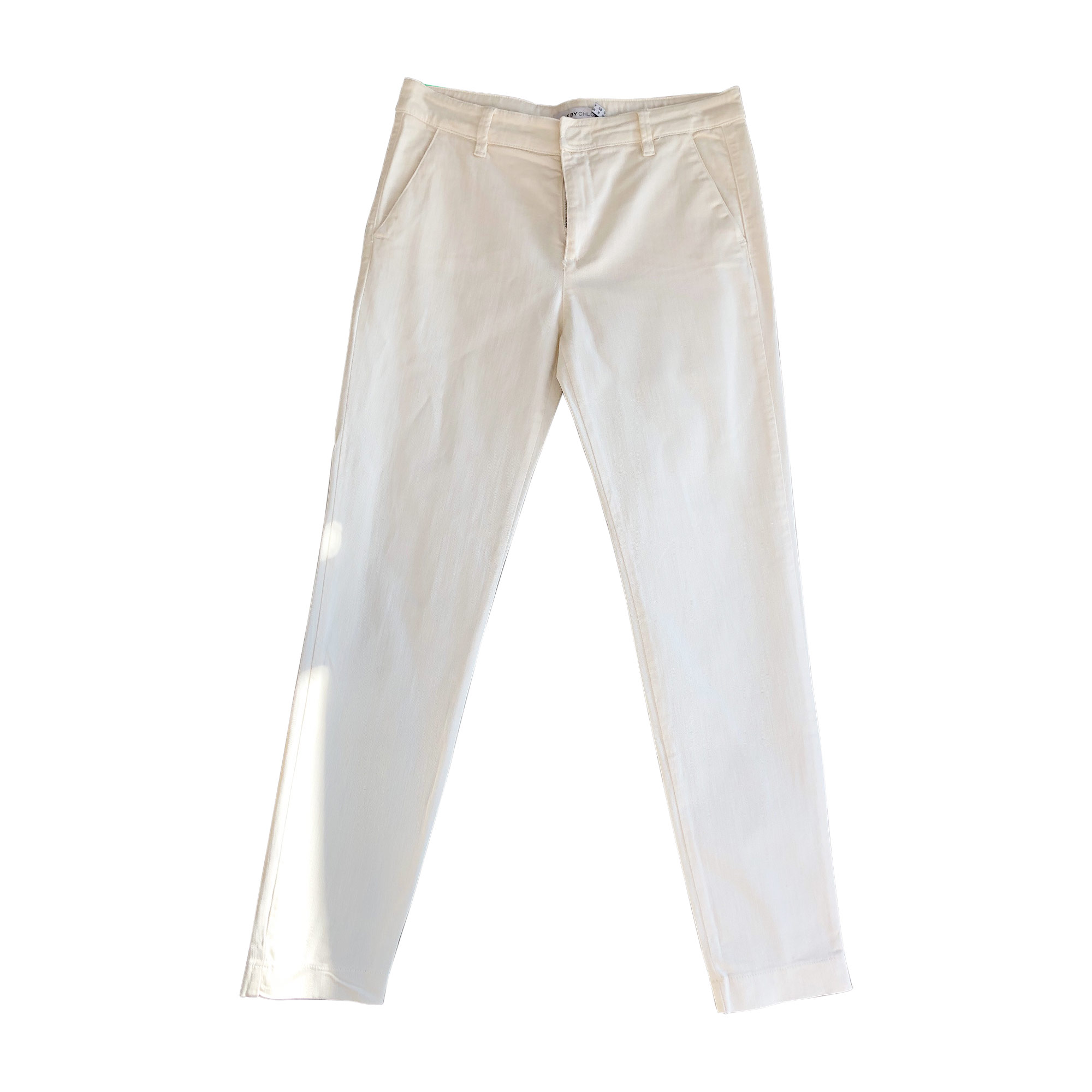 Pantalon slim, cigarette SEE BY CHLOE Blanc, blanc cassé, écru
