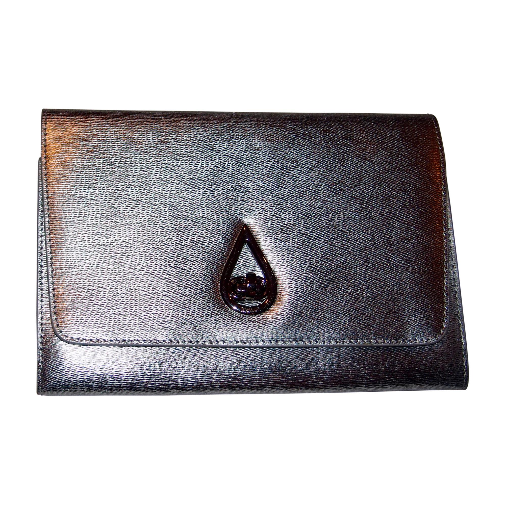 Sac pochette en cuir KENZO Argenté, acier