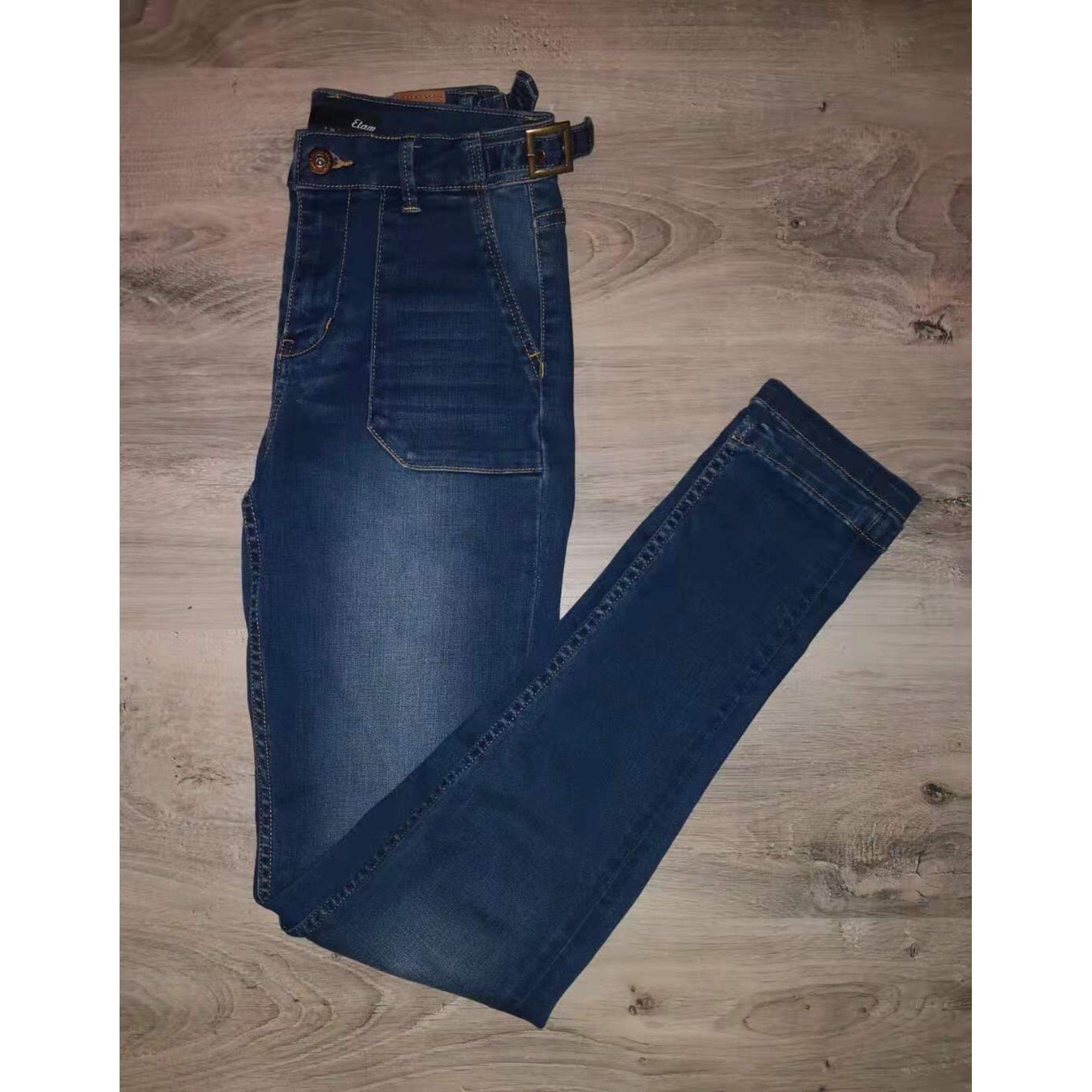 Jeans droit ETAM Bleu, bleu marine, bleu turquoise