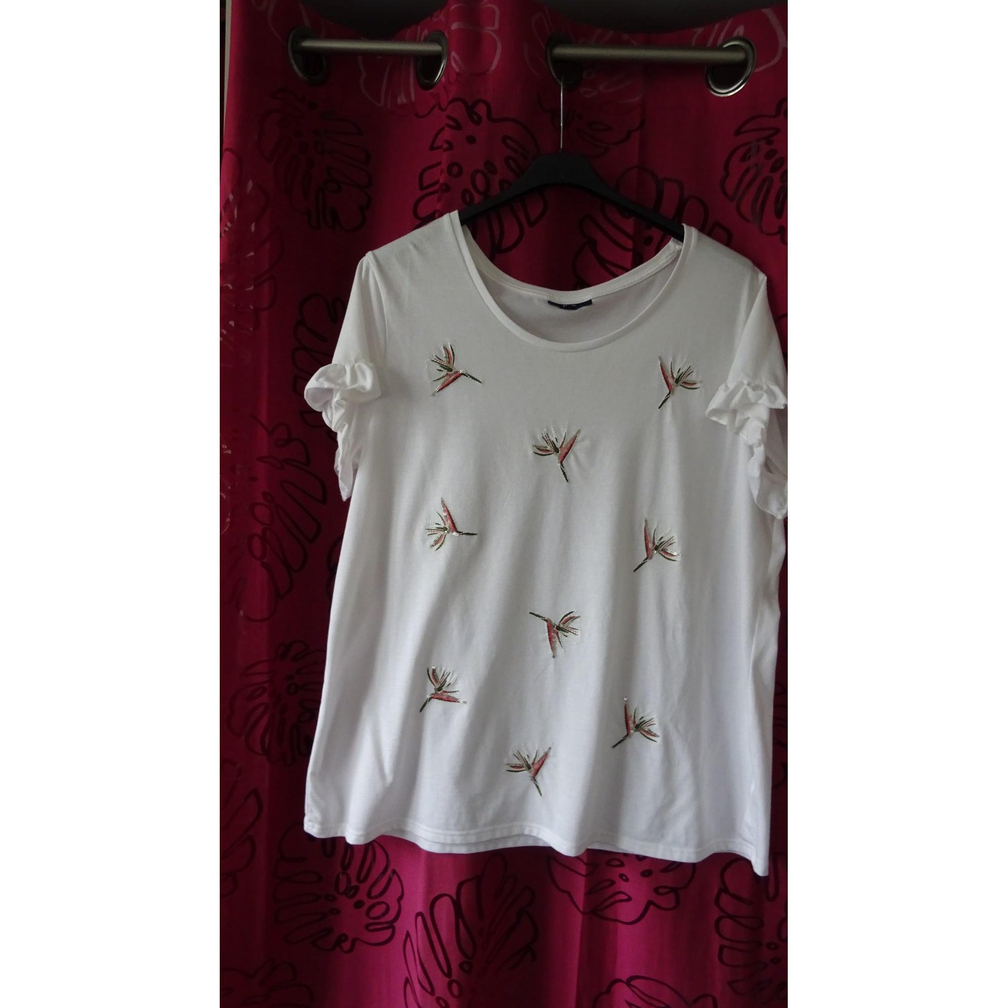 Top, tee-shirt KIABI Blanc, blanc cassé, écru