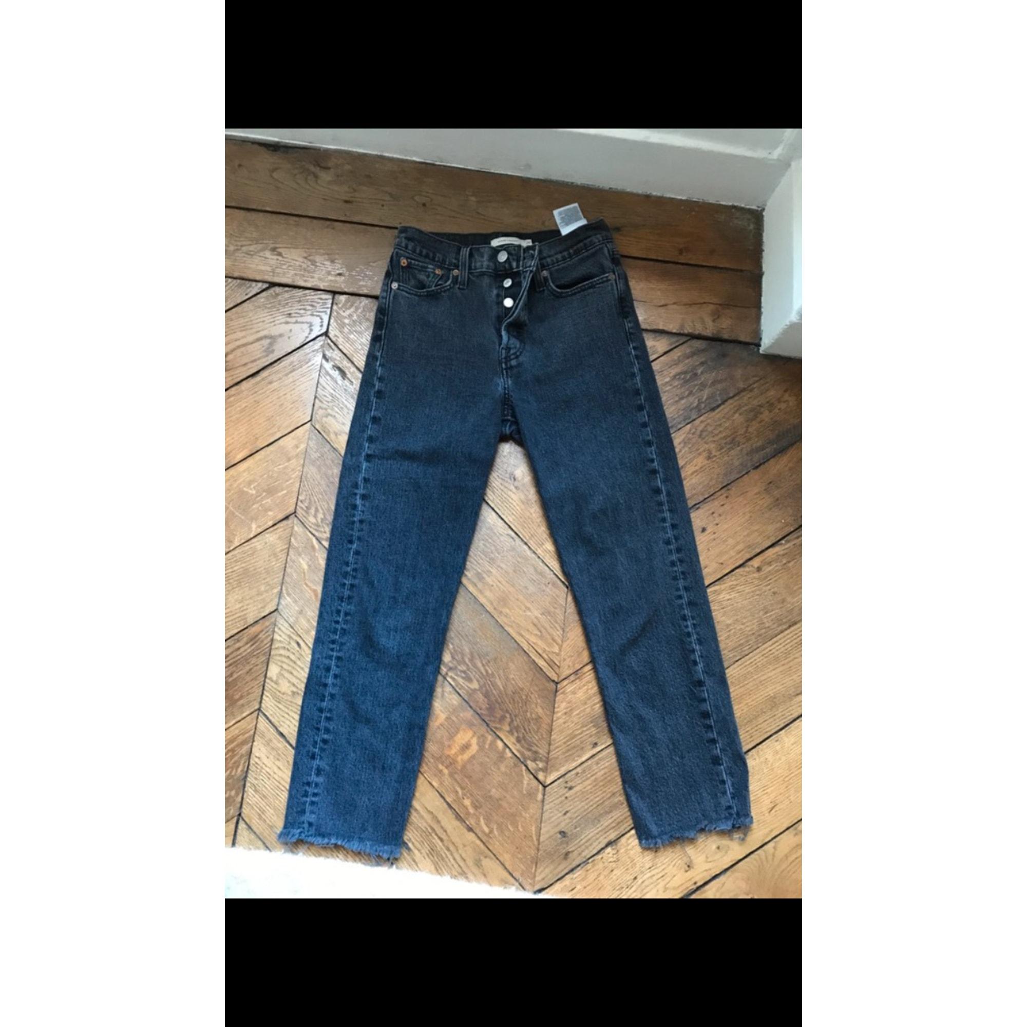 Jeans large, boyfriend LEVI'S Gris, anthracite