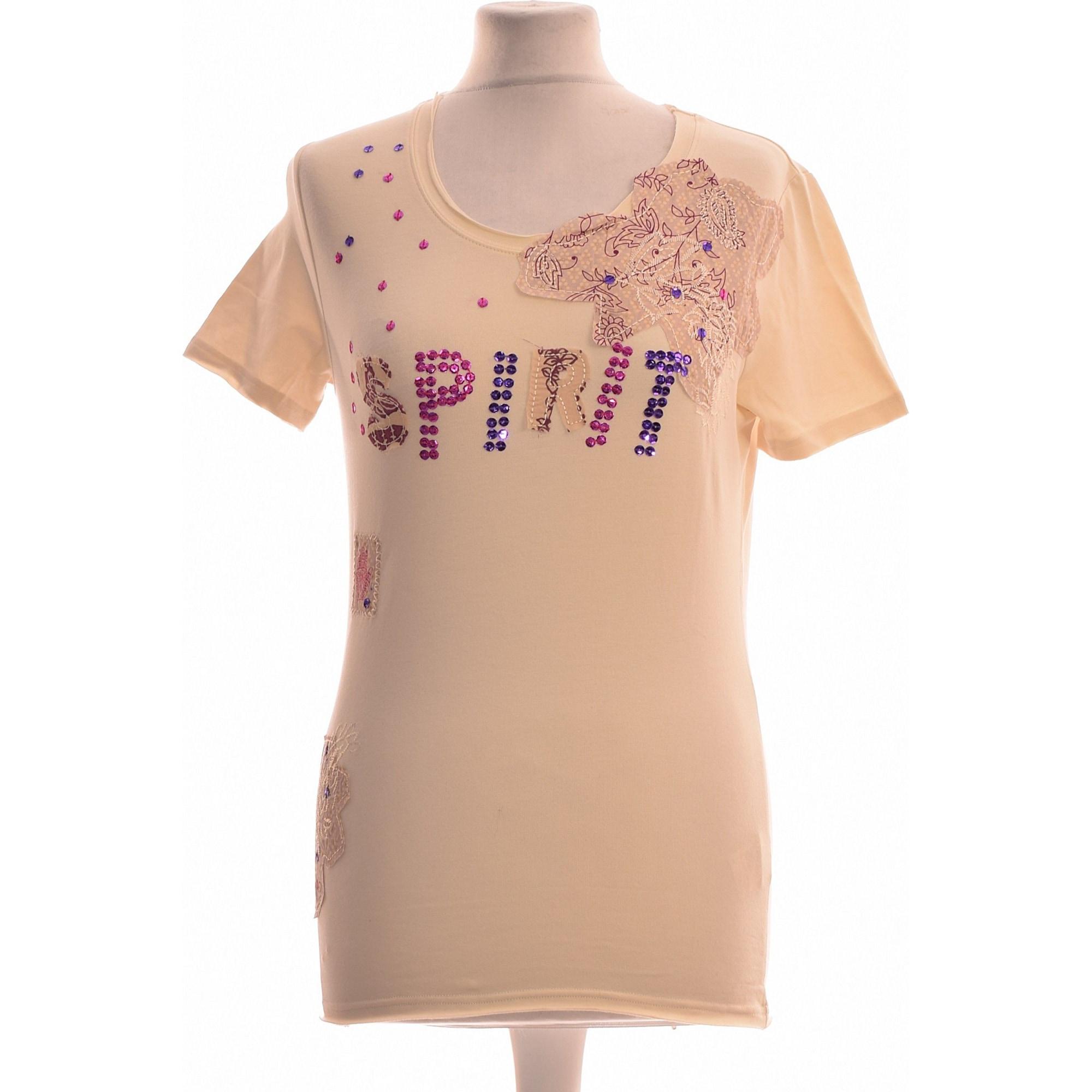 Top, tee-shirt IKKS Beige, camel