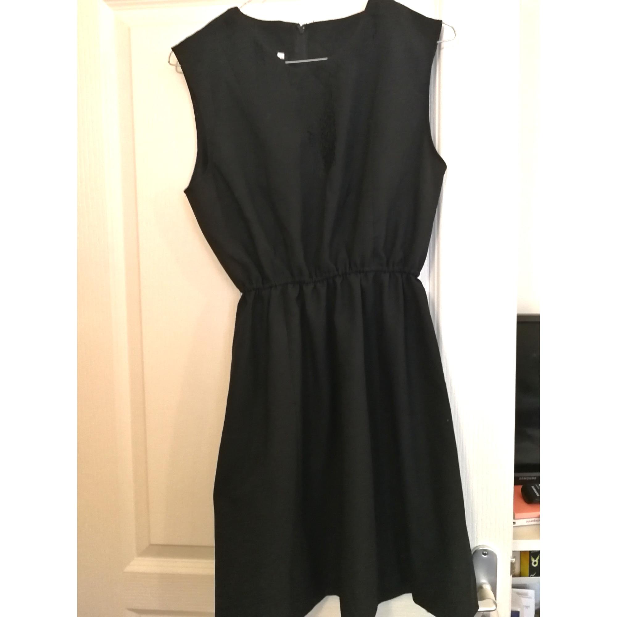 Robe mi-longue VINTAGE Noir