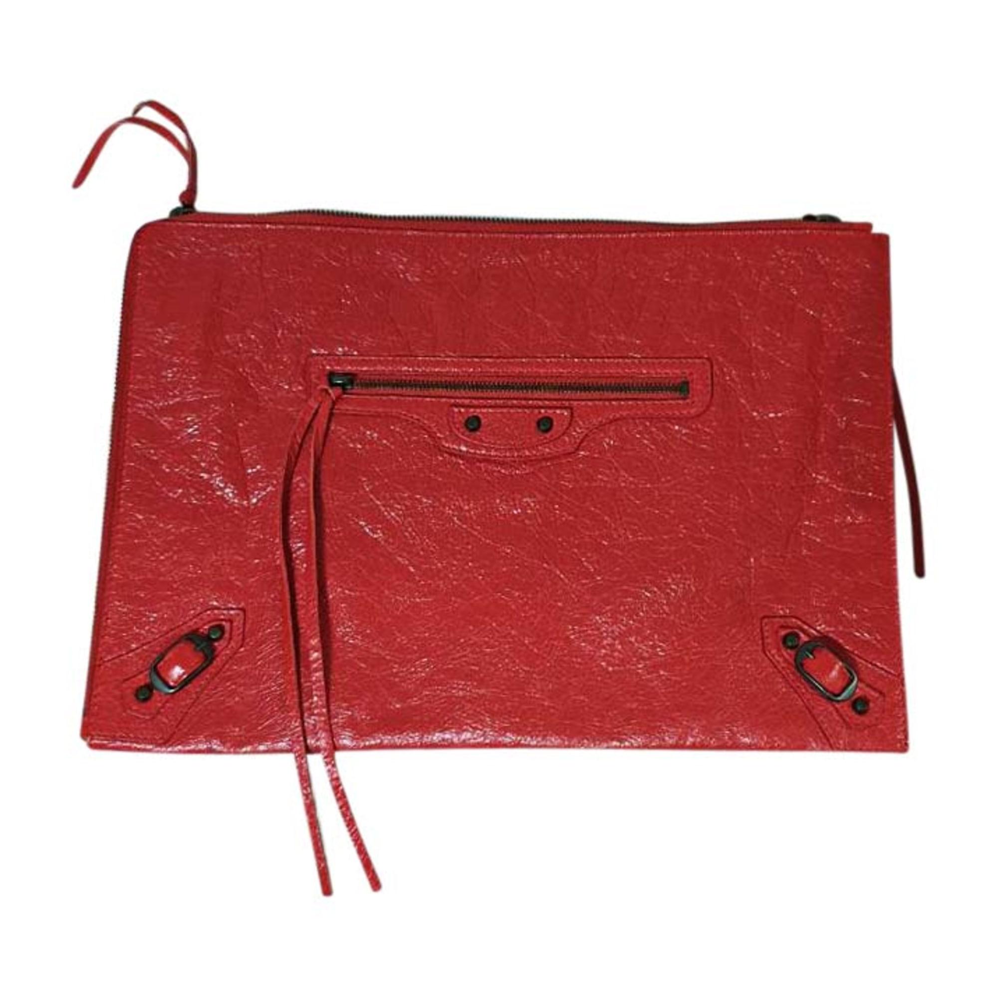 Pochette in pelle BALENCIAGA Rosso, bordeaux