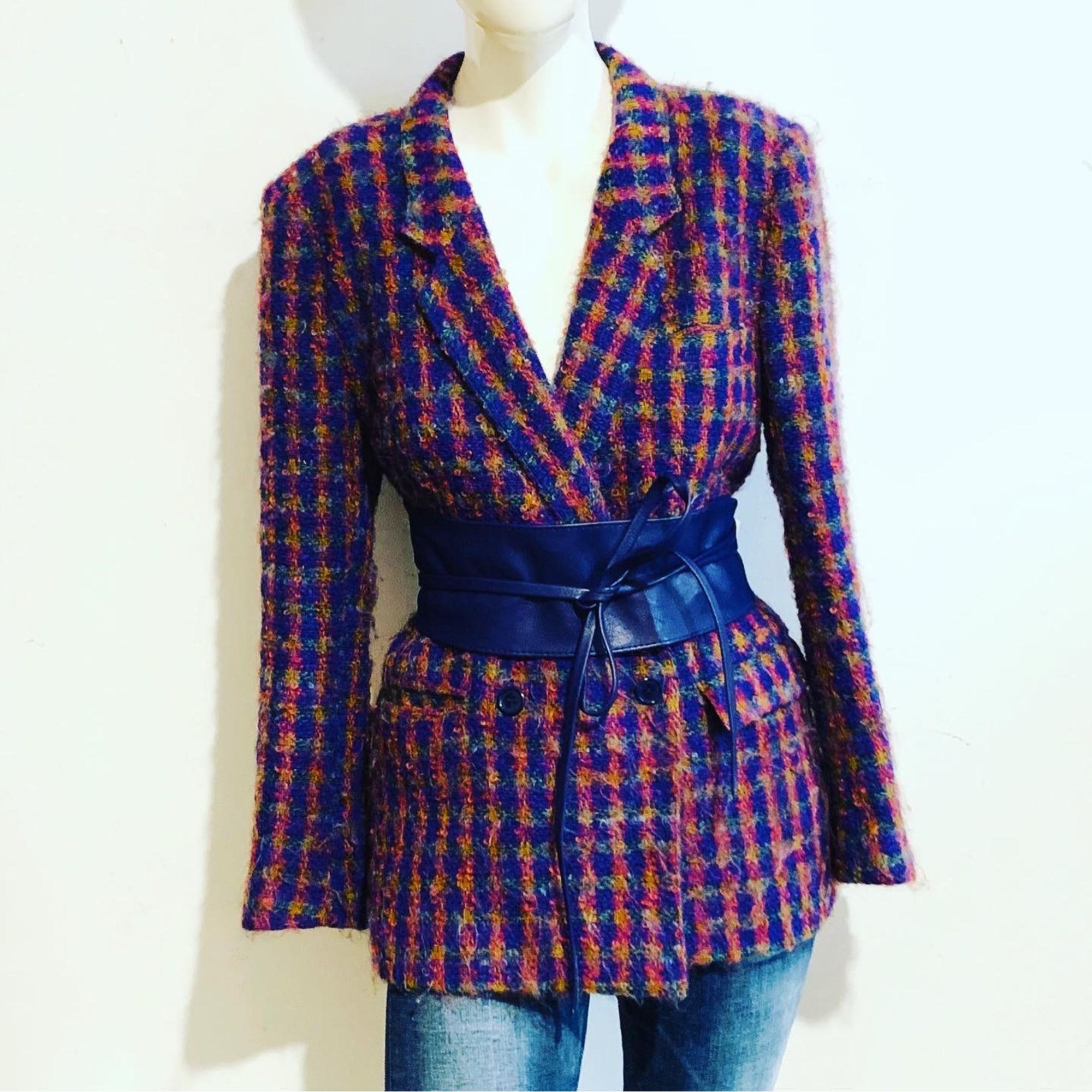 Blazer, veste tailleur VINTAGE Bordeaux multicolor