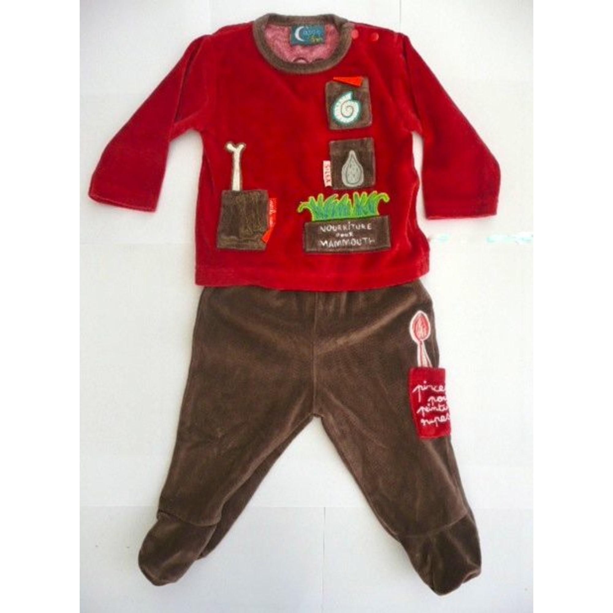 1dda6becb4396 Pyjama DU PAREIL AU MÊME DPAM 6 mois rouge - 999859