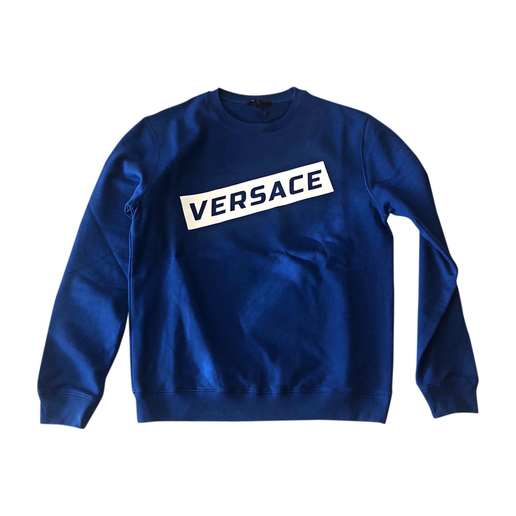Felpa VERSACE Blu, blu navy, turchese