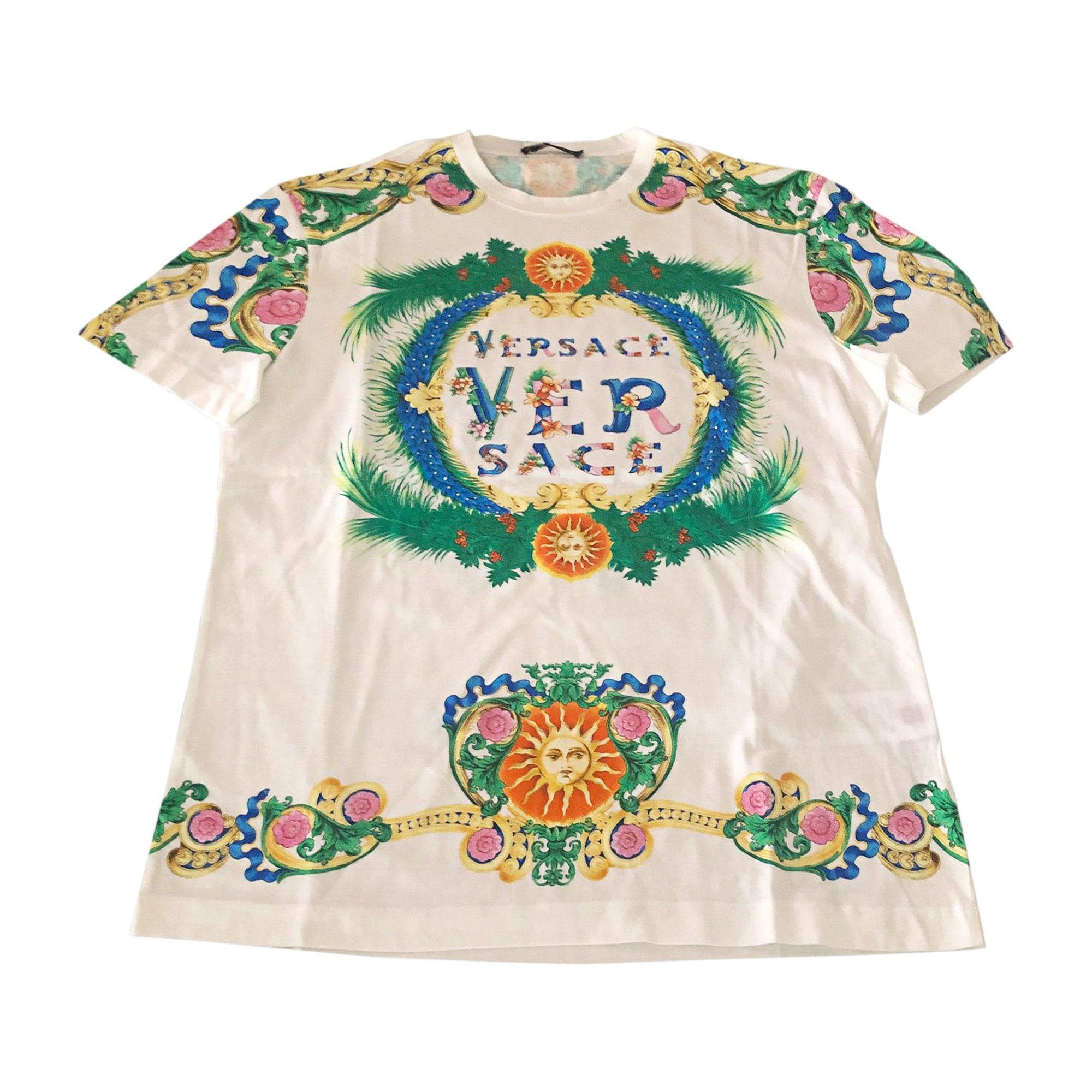 T-shirt VERSACE Bianco, bianco sporco, ecru