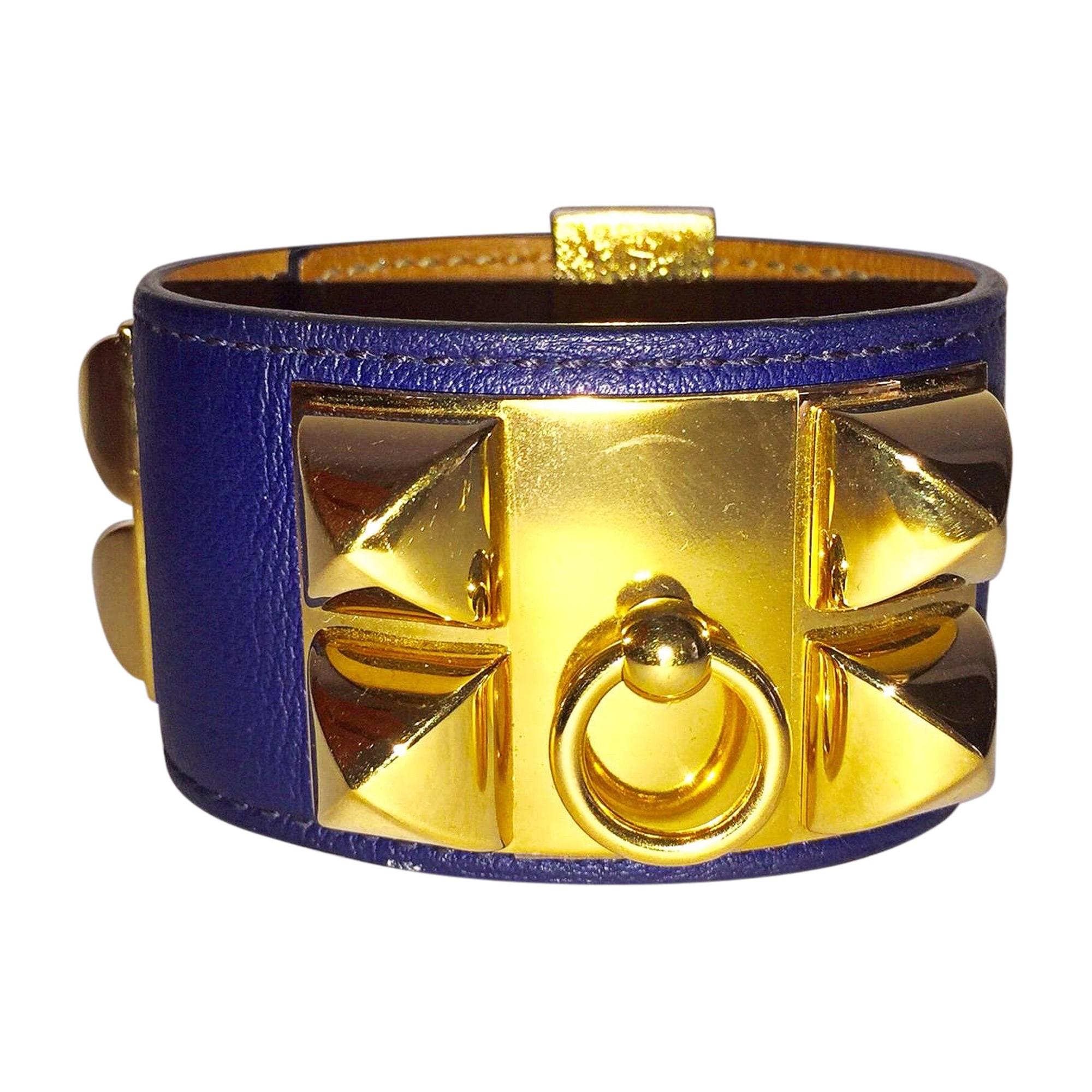 Bracelet HERMÈS Collier de Chien Blue, navy, turquoise