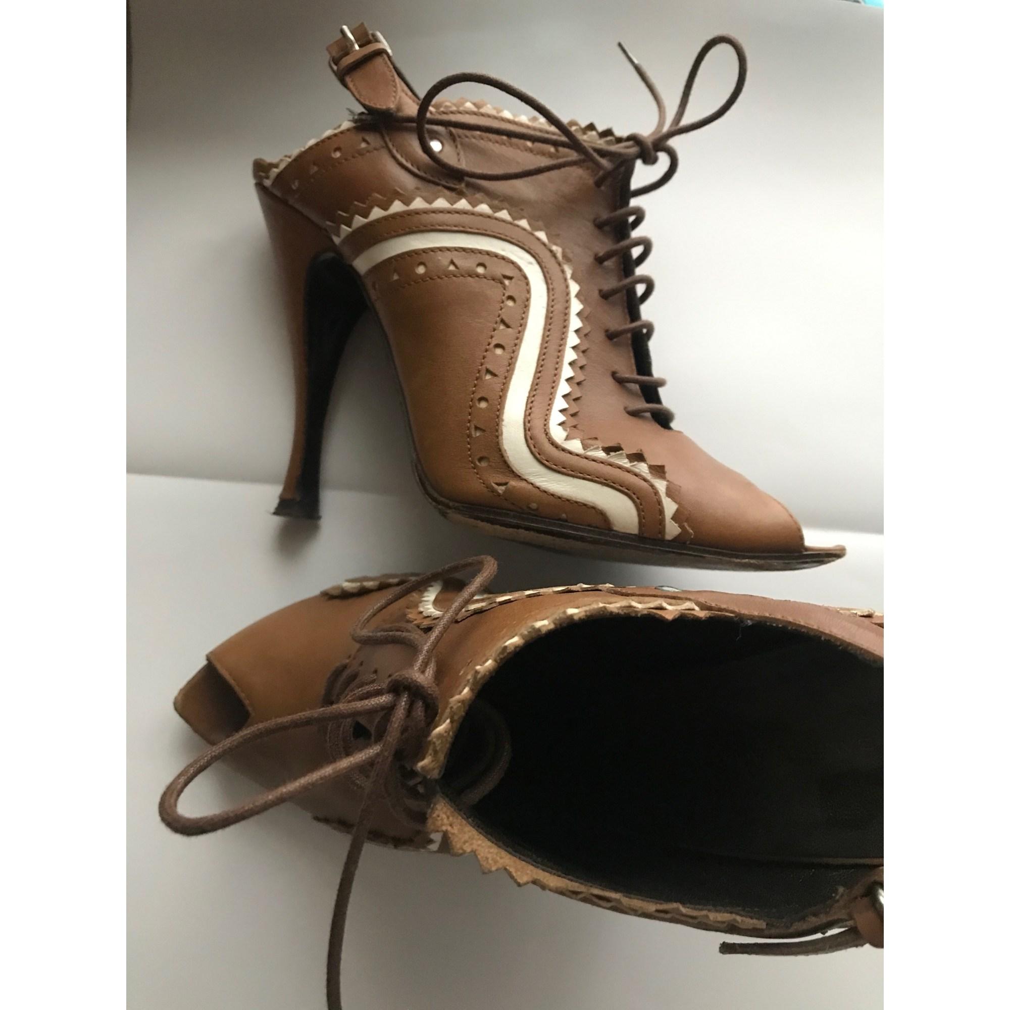 Sandales à talons BALENCIAGA Marron