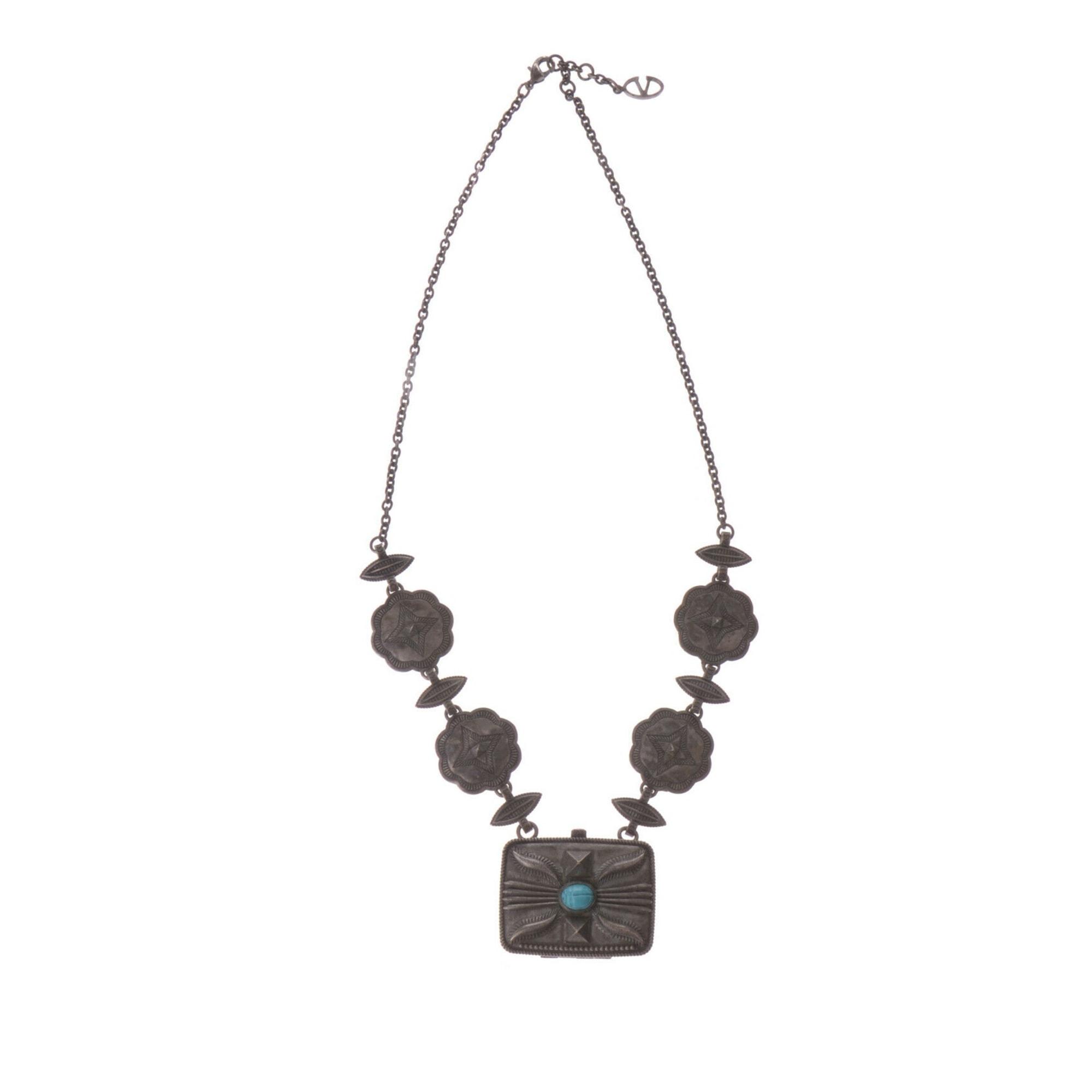 Pendentif, collier pendentif VALENTINO métal argent