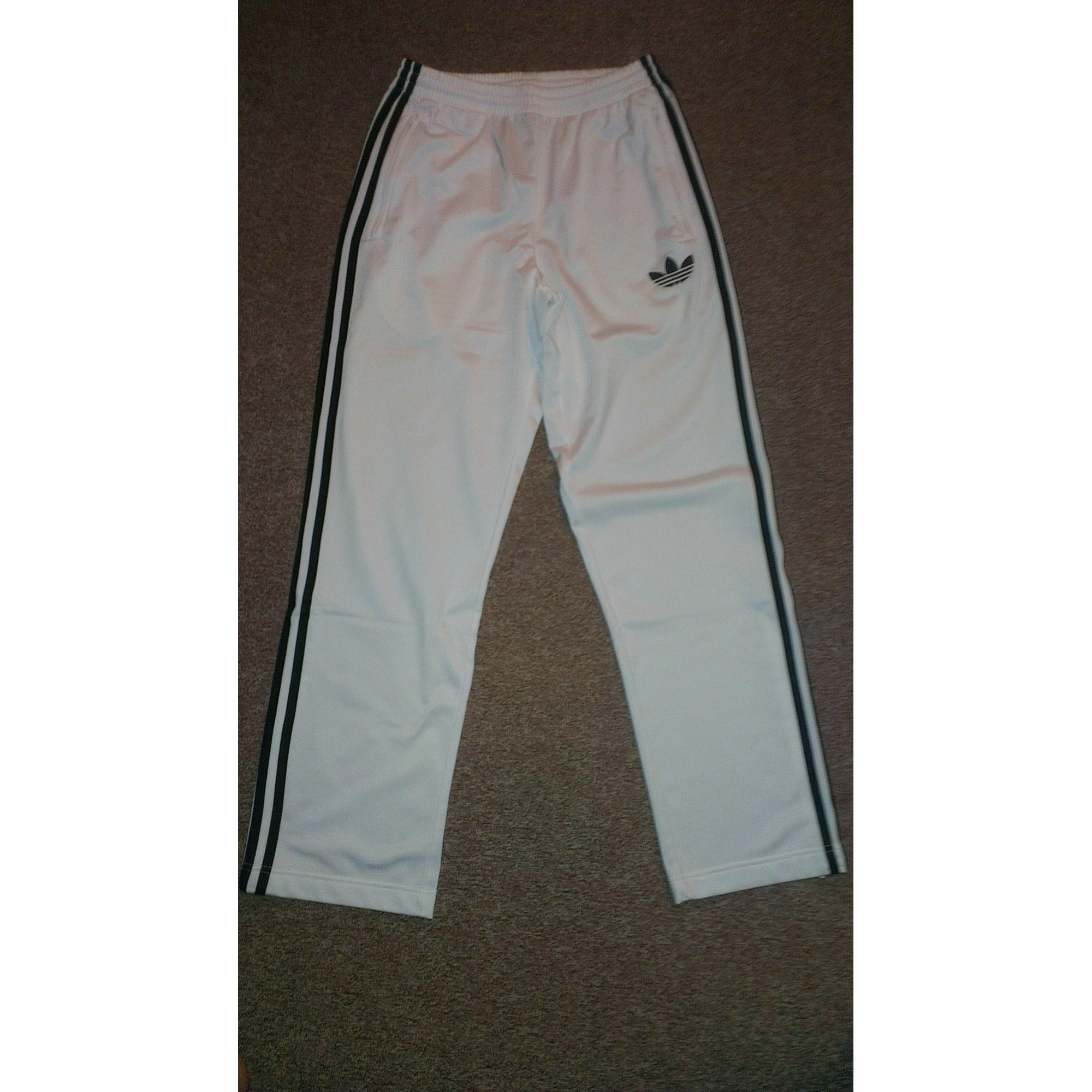 Pantalon de survêtement ADIDAS 46 (S) blanc vendu par Sophak