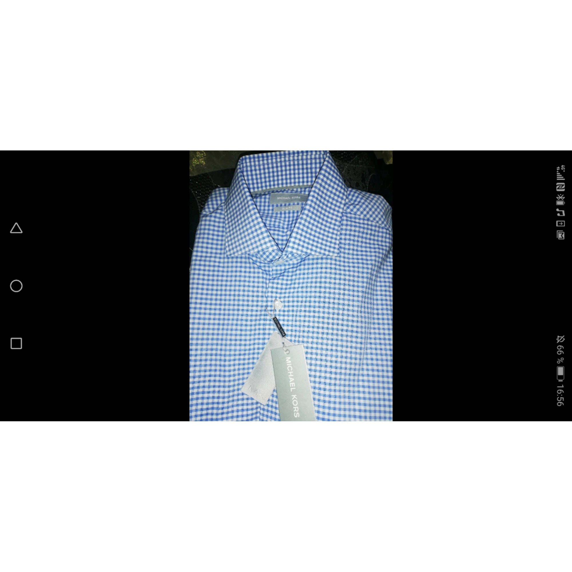 Chemise MICHAEL KORS Bleu, bleu marine, bleu turquoise