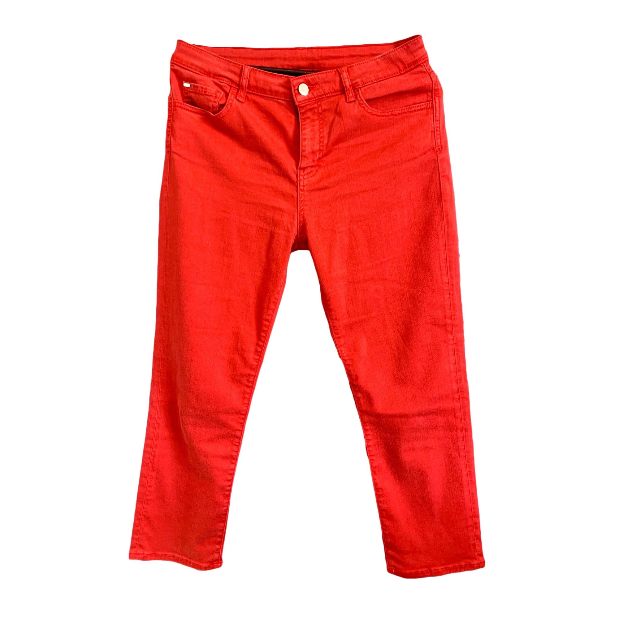 Jeans slim ARMANI JEANS Rouge, bordeaux