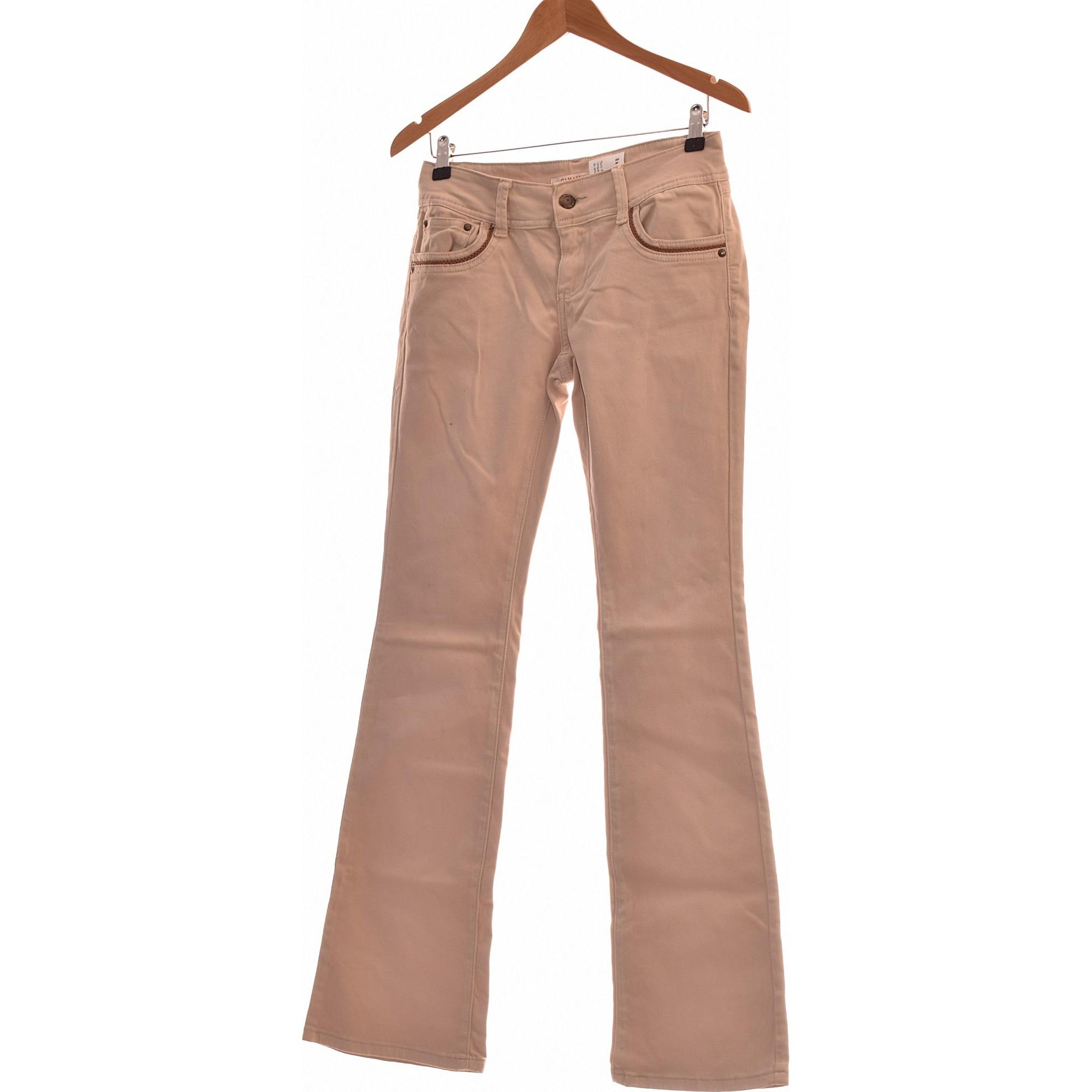 Jeans évasé, boot-cut CAMAIEU Beige, camel