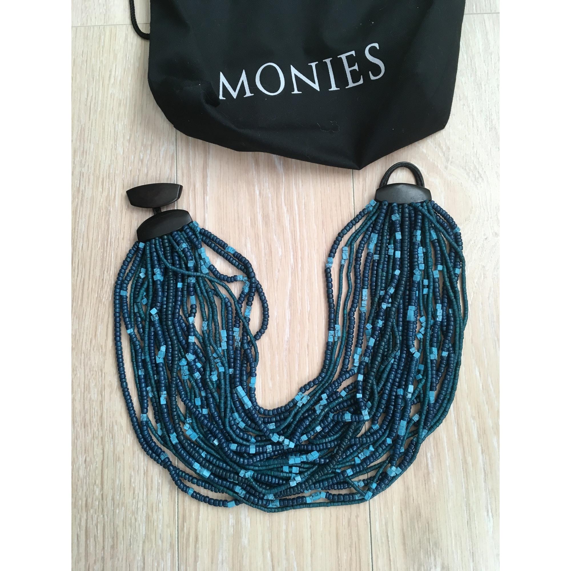 Collier MONIES résine bleu
