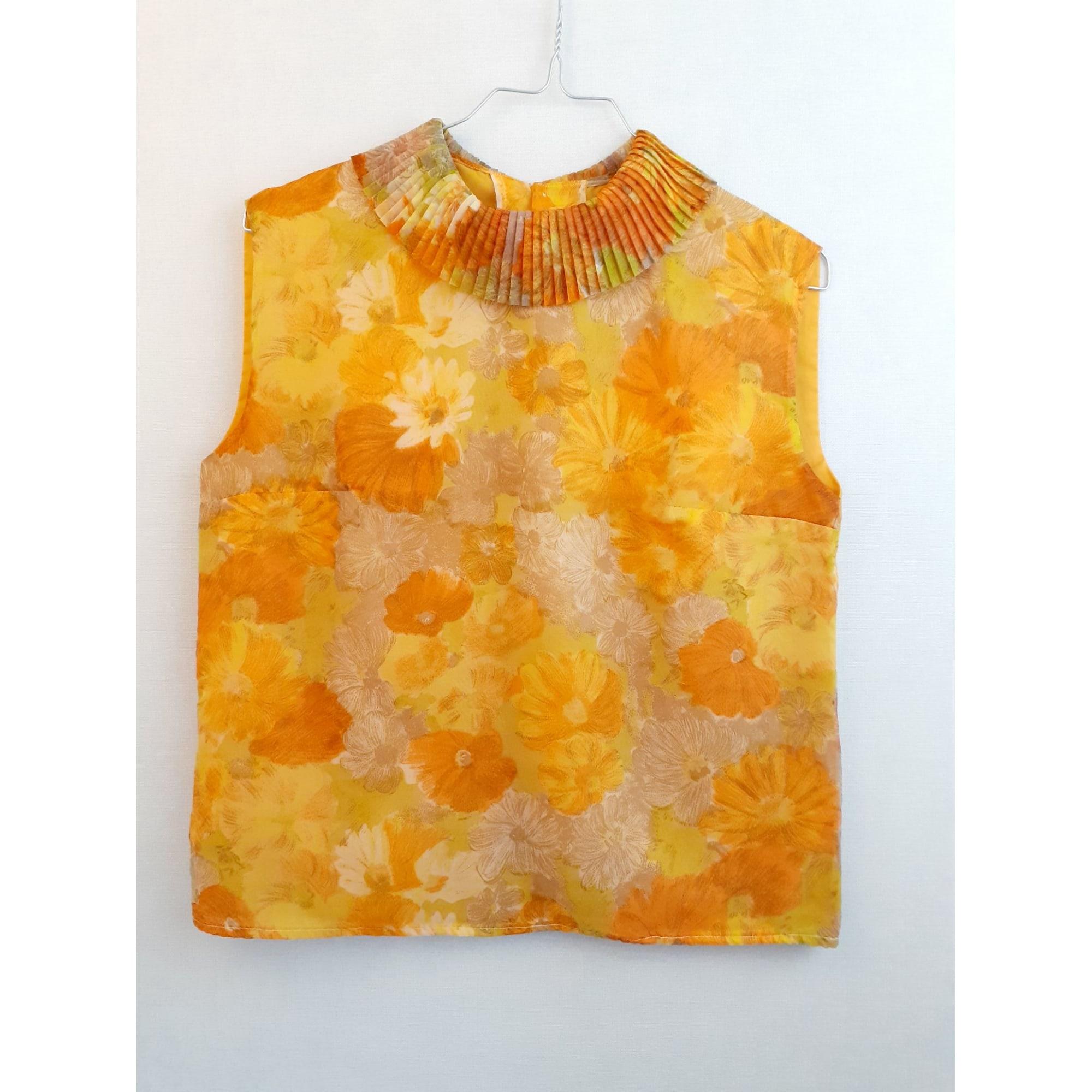 Top, tee-shirt VINTAGE Orange