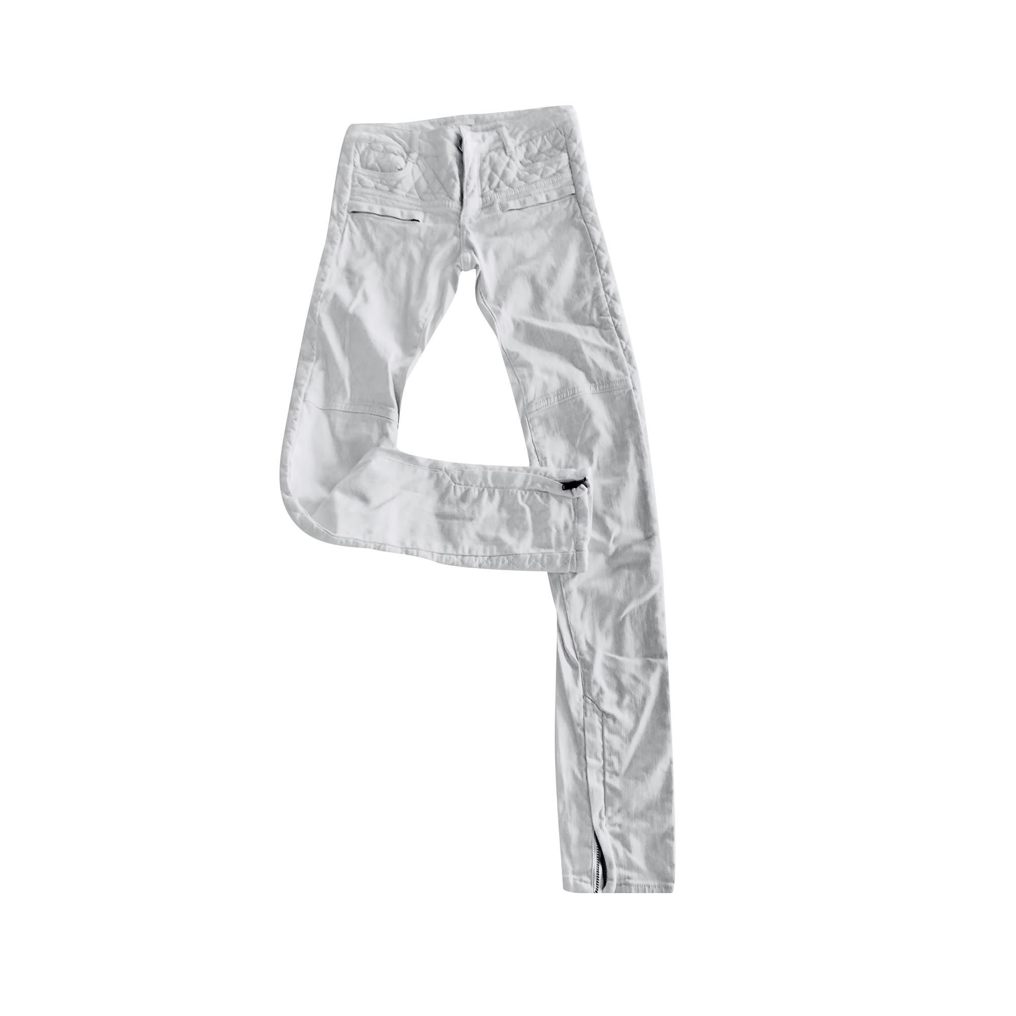 Pantalon slim, cigarette MAJE Blanc, blanc cassé, écru