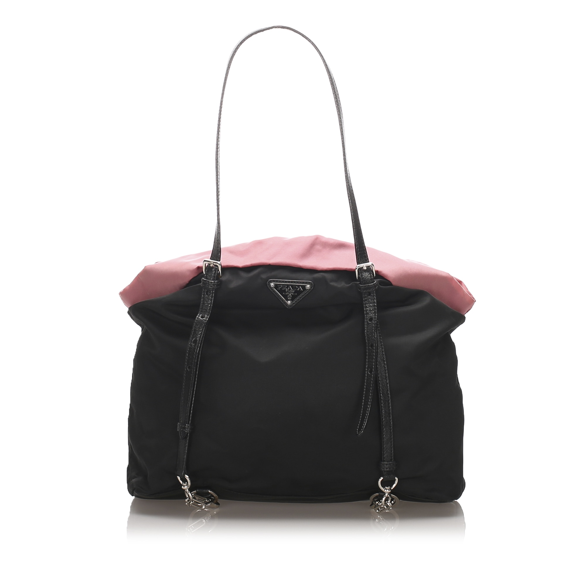 Leather Shoulder Bag PRADA Black
