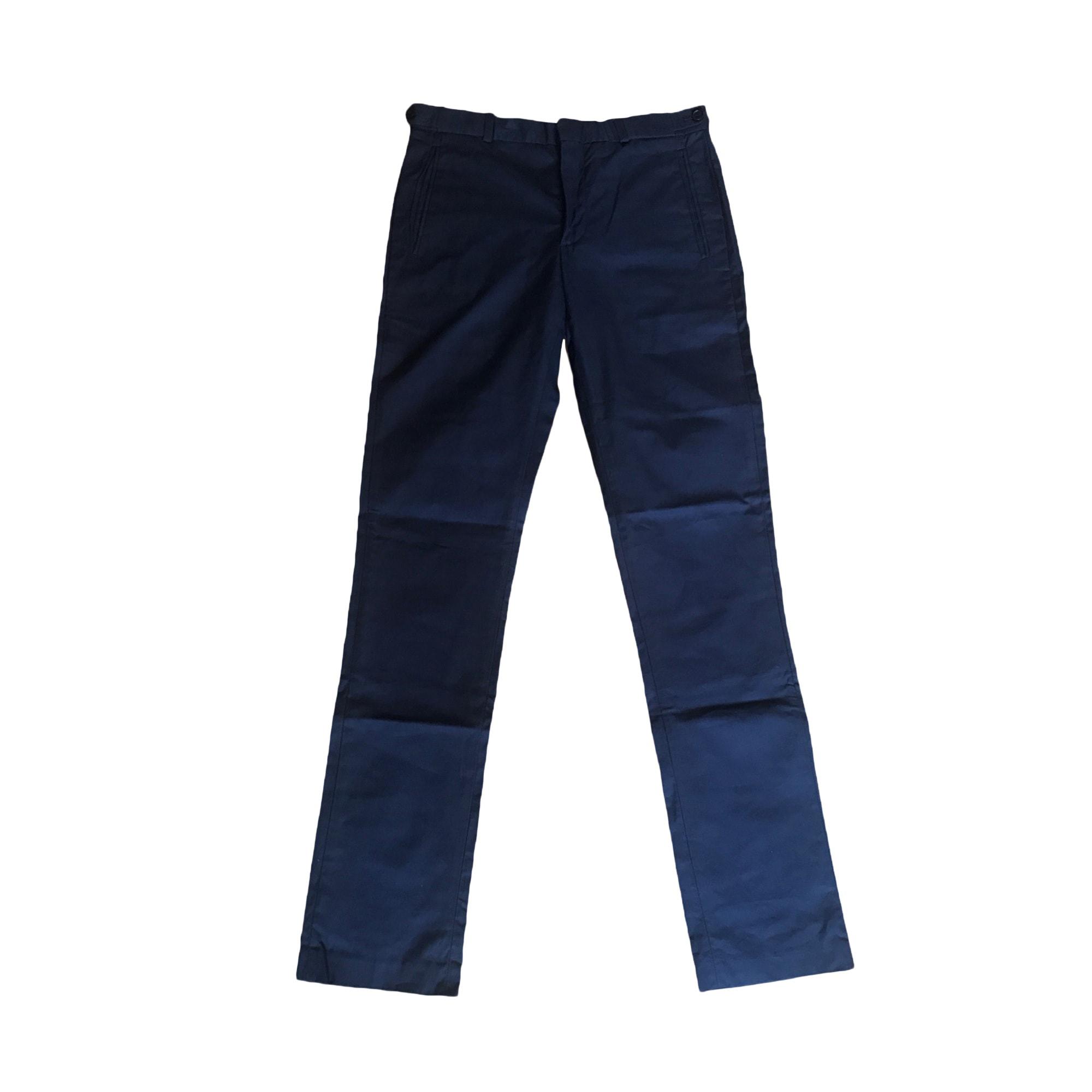 Pantalon droit SANDRO Bleu marine