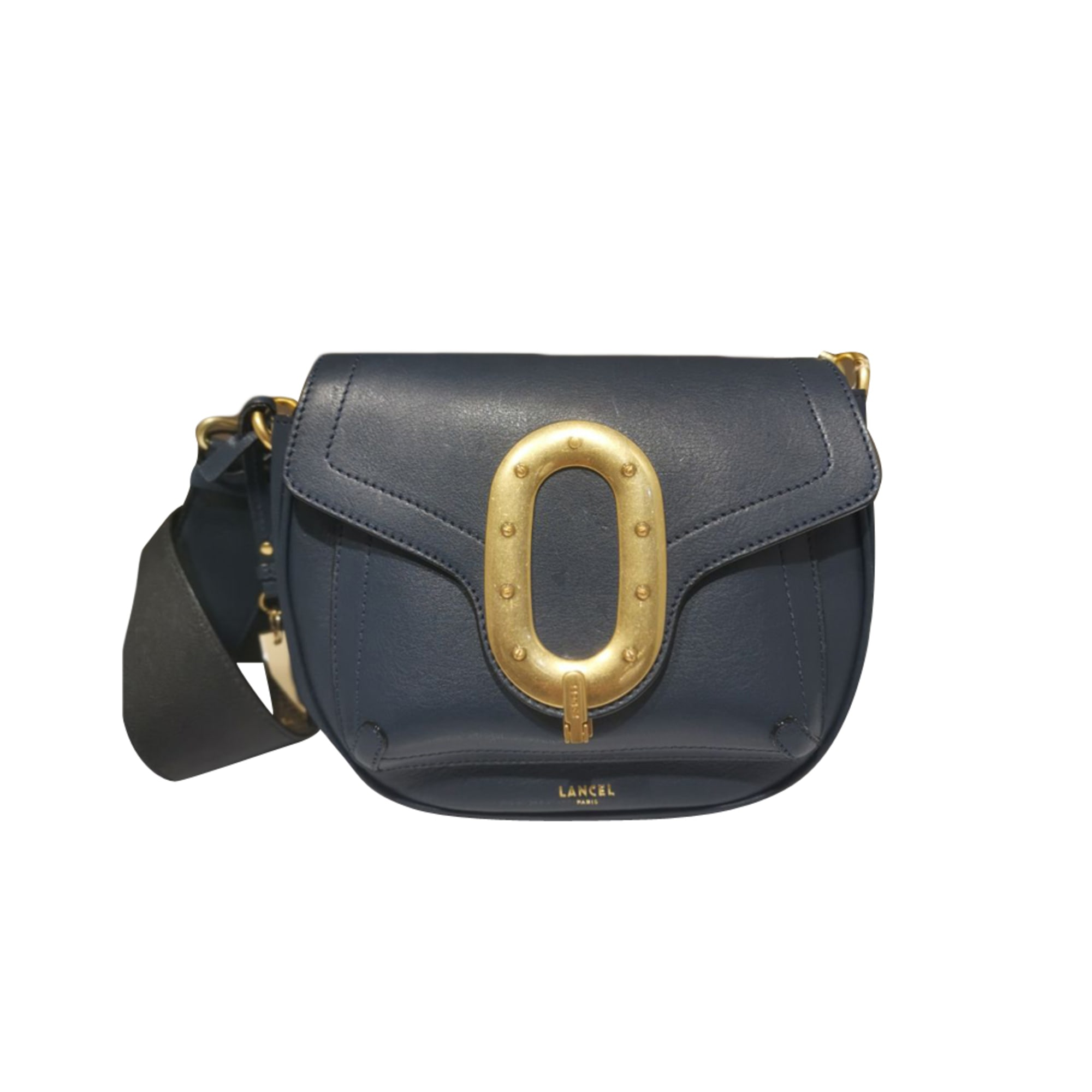Leather Shoulder Bag LANCEL Blue, navy, turquoise