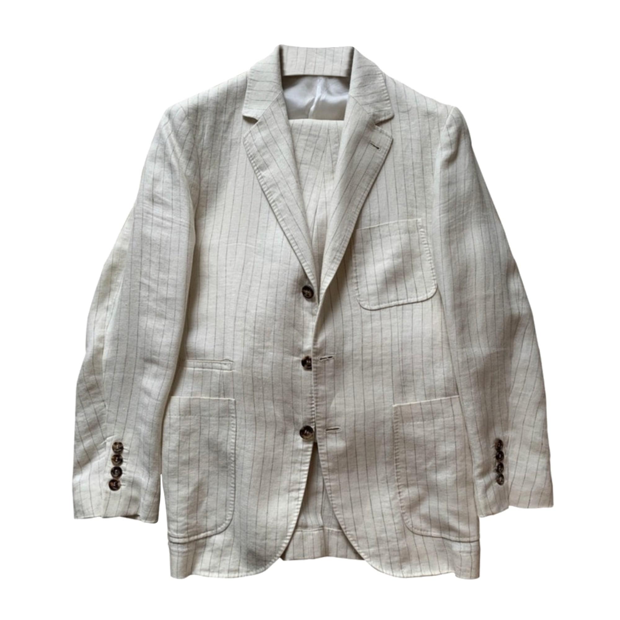 Costume complet BRUNELLO CUCINELLI Blanc, blanc cassé, écru