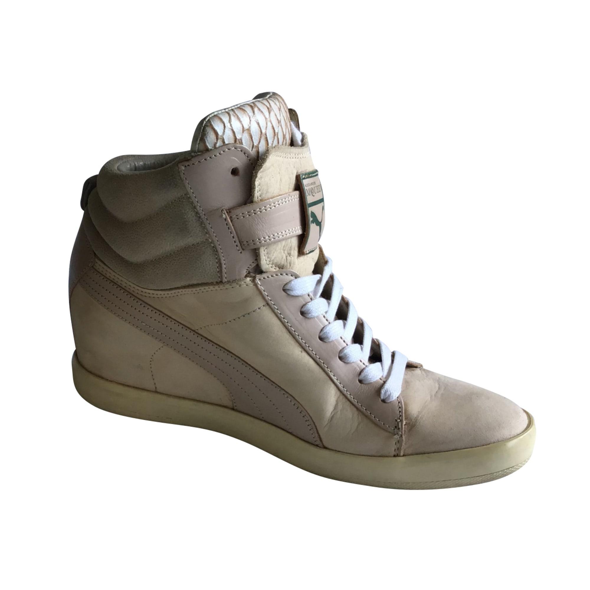 Chaussures de sport ALEXANDER MCQUEEN Oversize Blanc, blanc cassé, écru