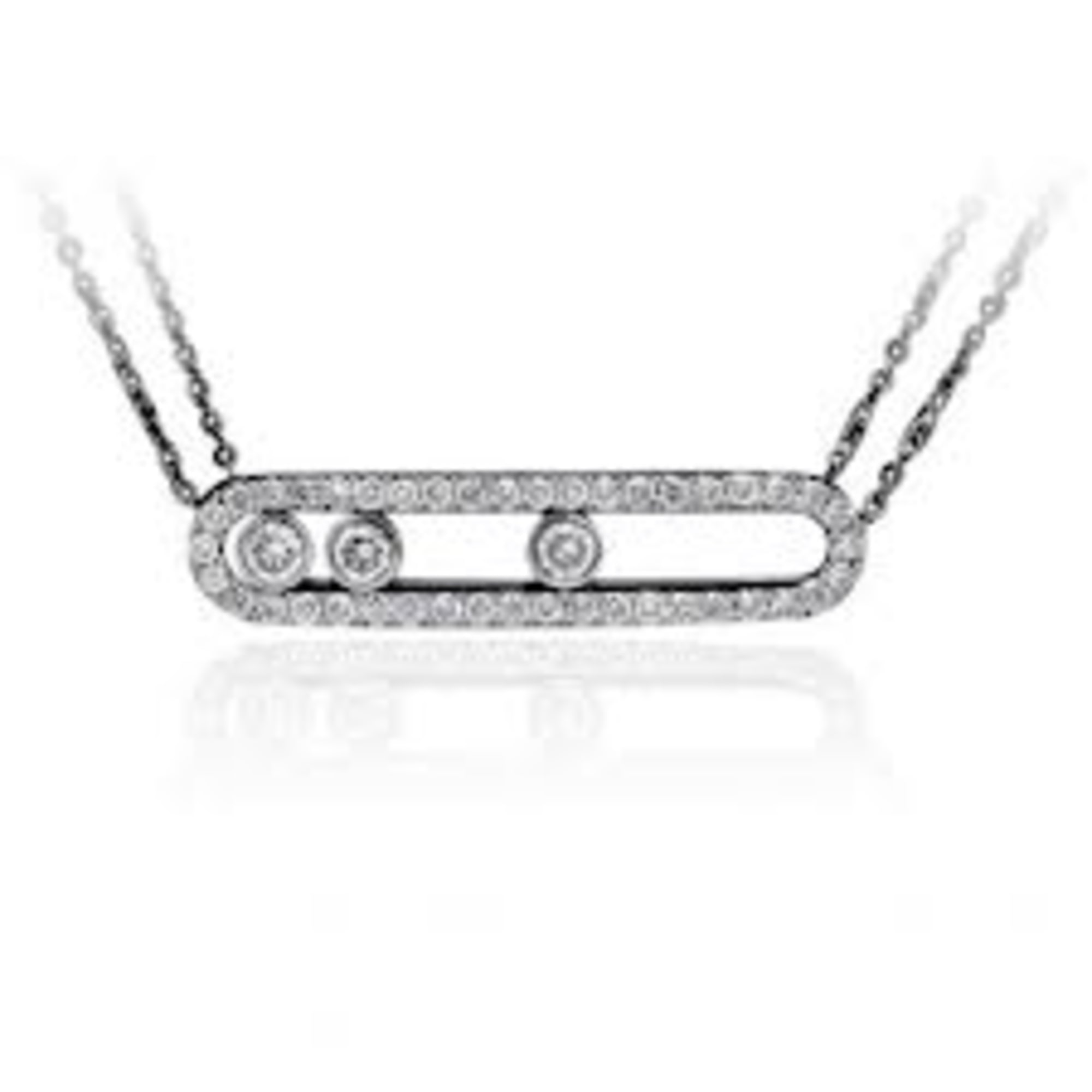 collier argent style messika