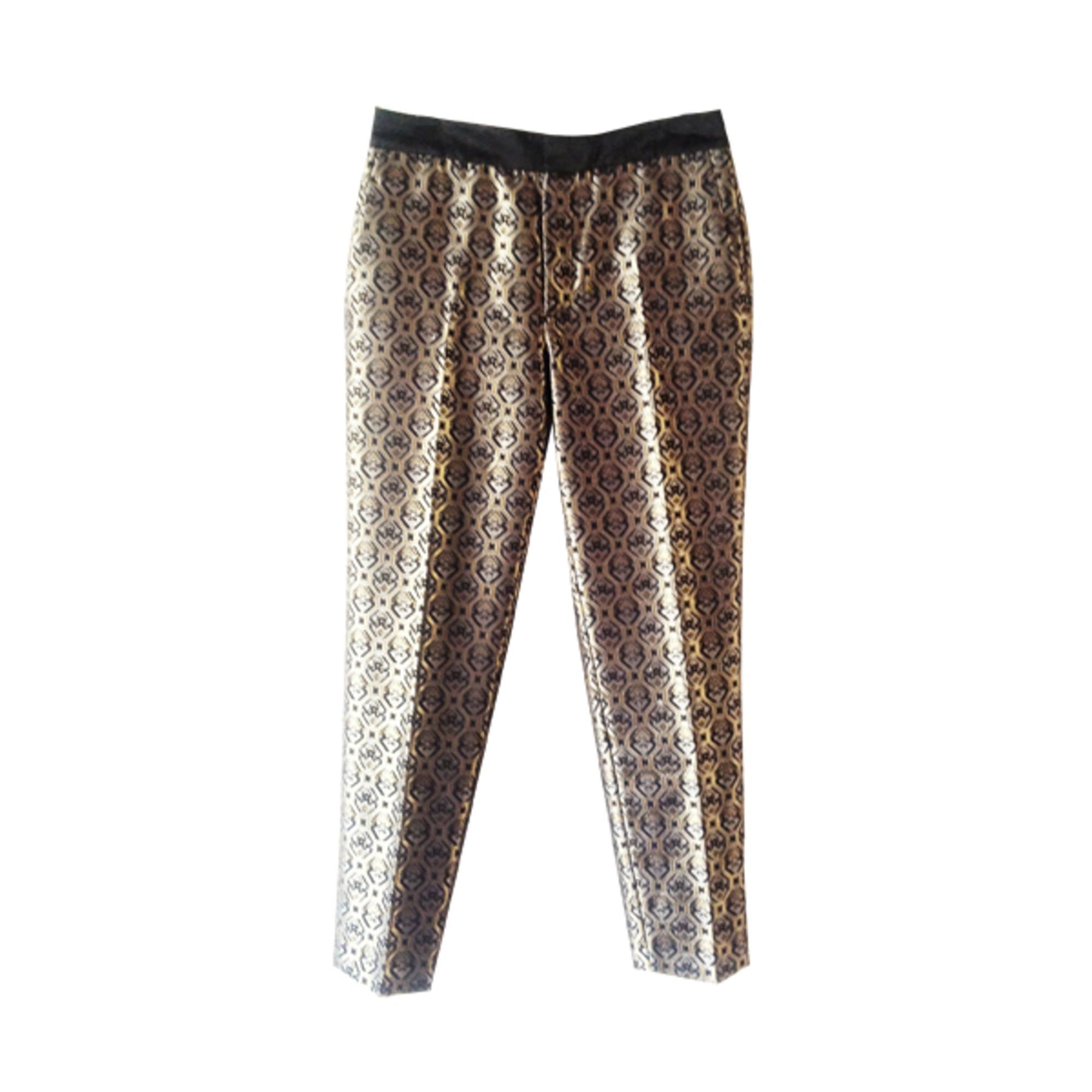 pantalon doré femme zara