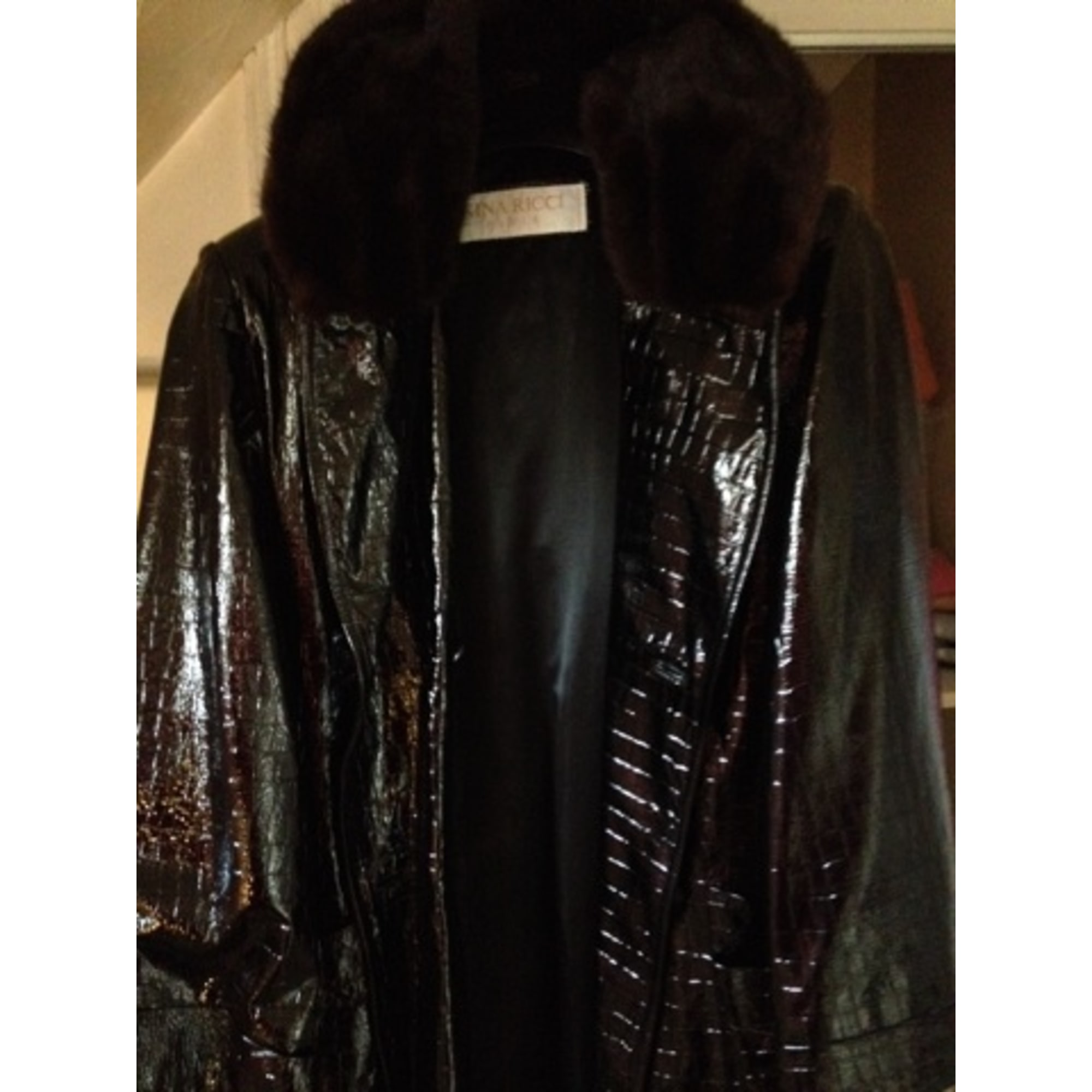 Manteau en fourrure NINA RICCI Noir