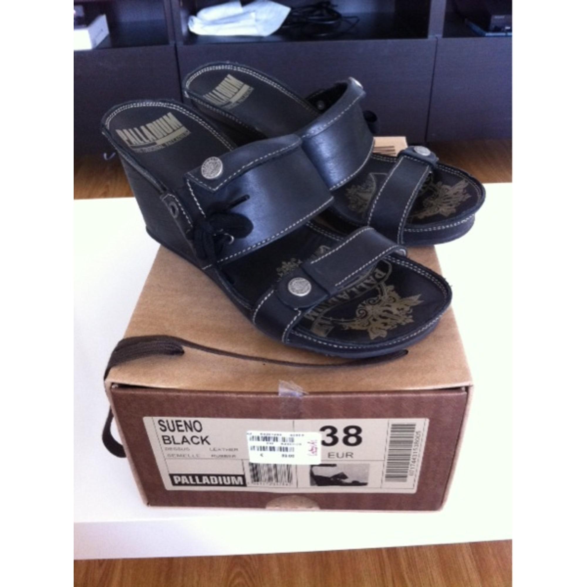 Sandales compensées PALLADIUM 38 noir 2594649