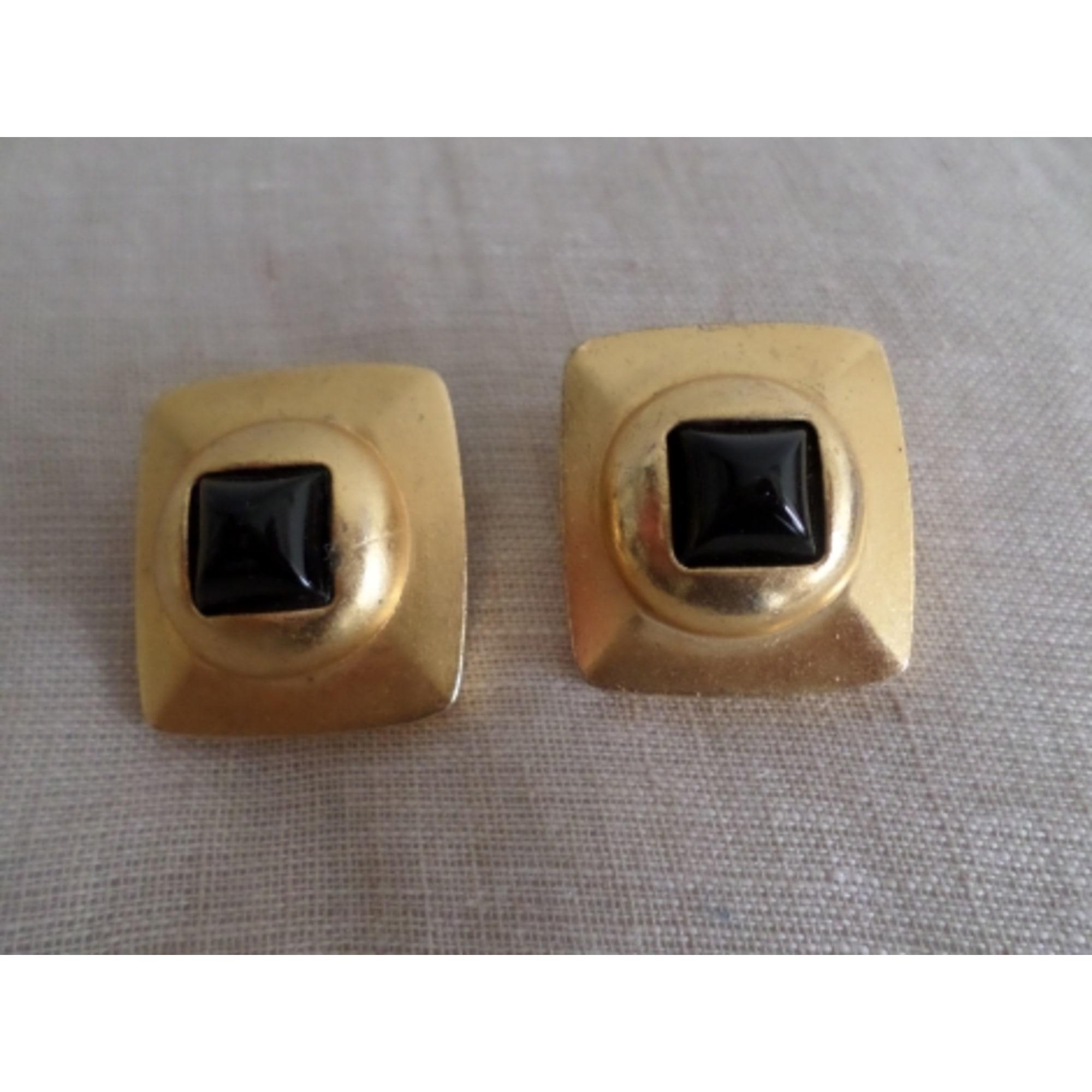 Boucles d'oreille TORRENTE acier doré