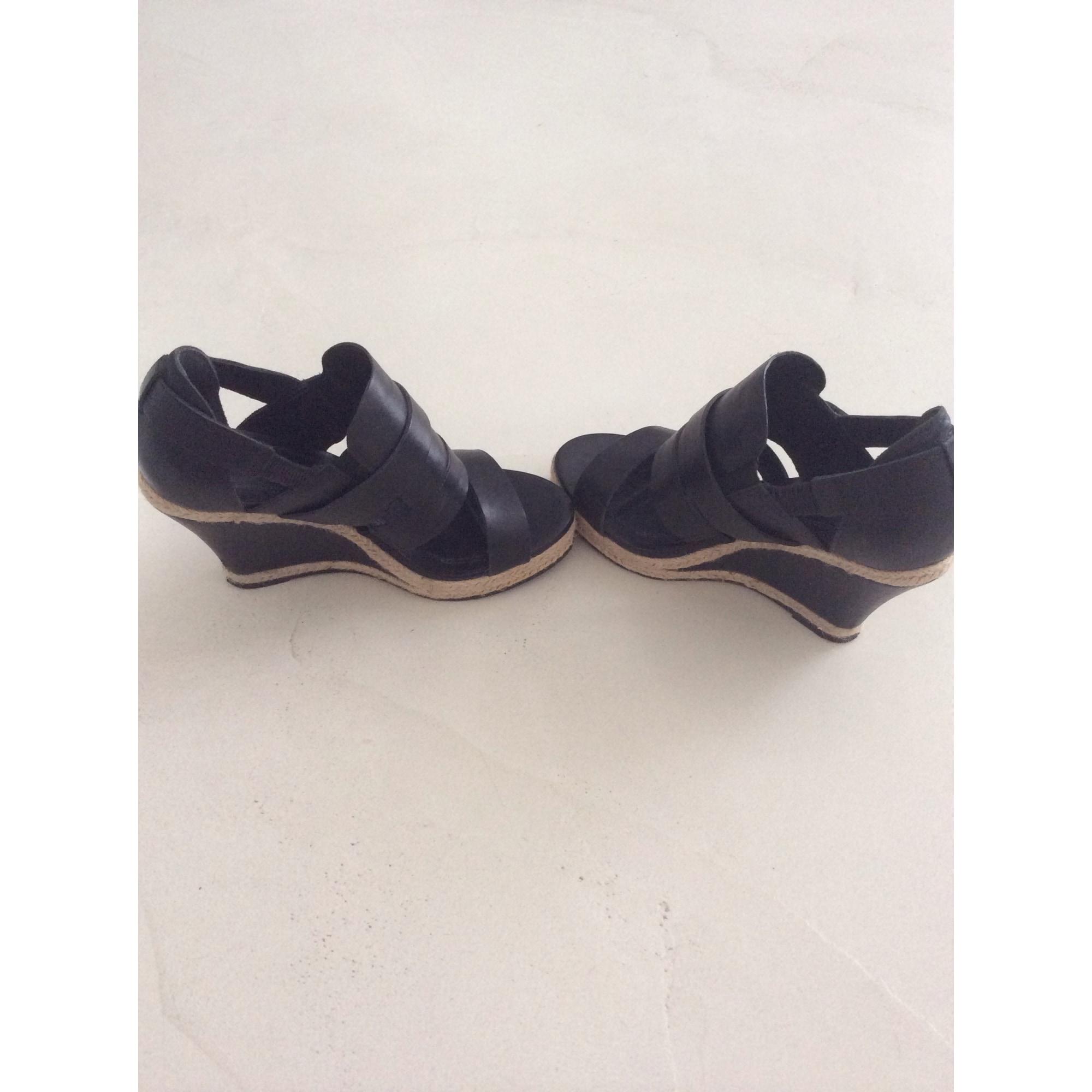 Sandales compensées SANDRO Noir