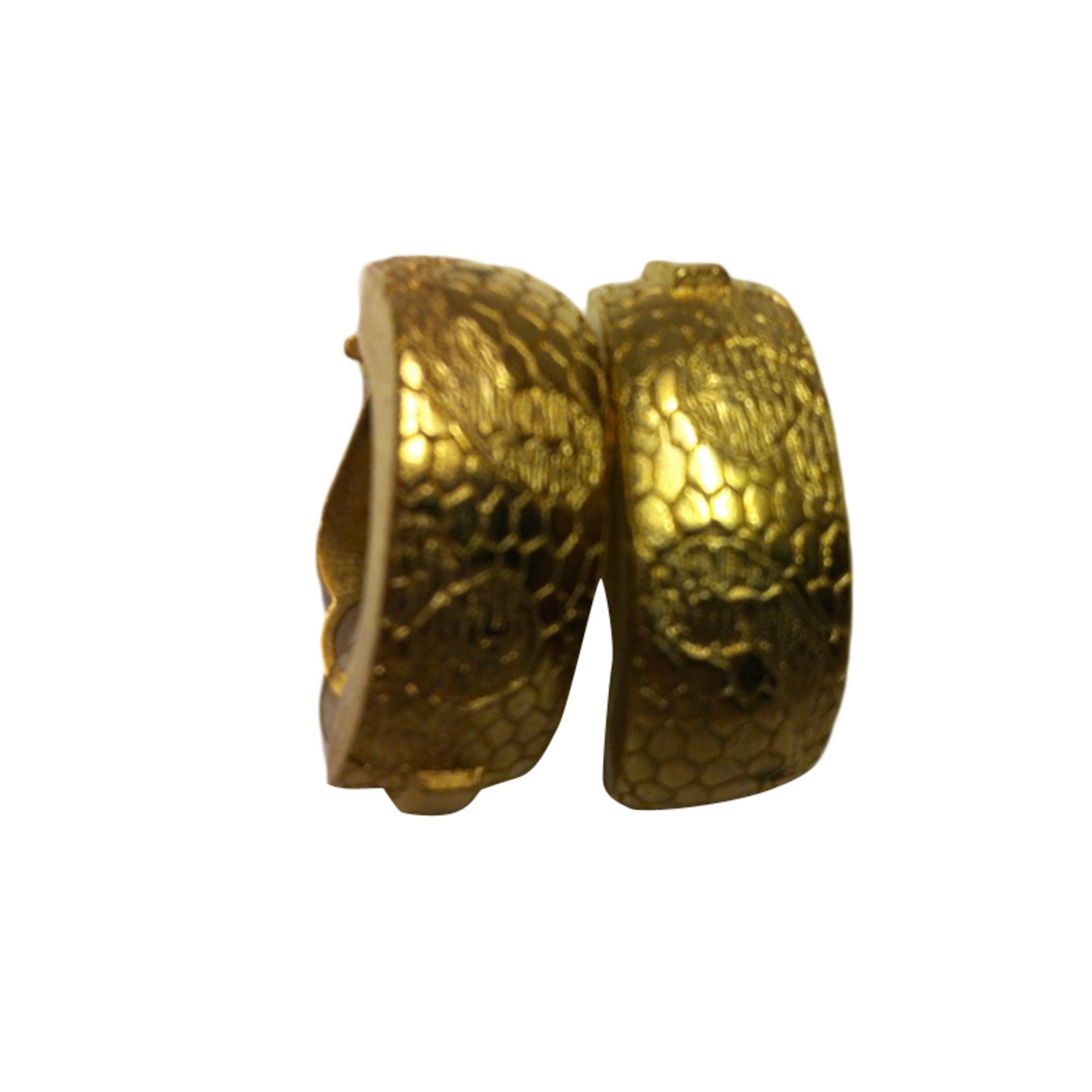 Boucles d'oreille LANVIN bronze doré