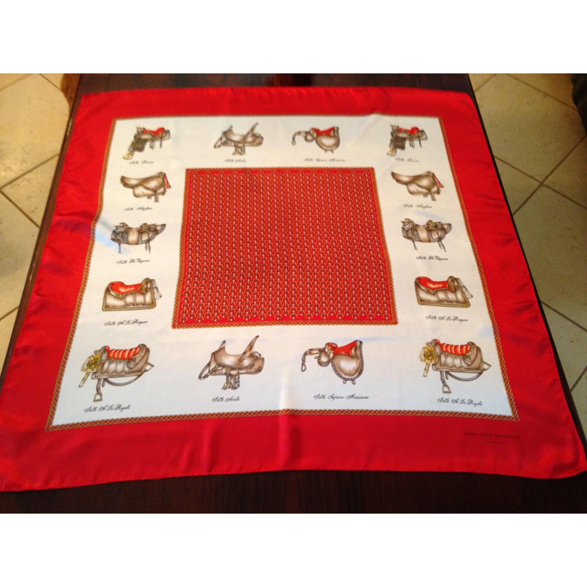 Foulard JEAN LOUIS SCHERRER rouge hermès et blanc