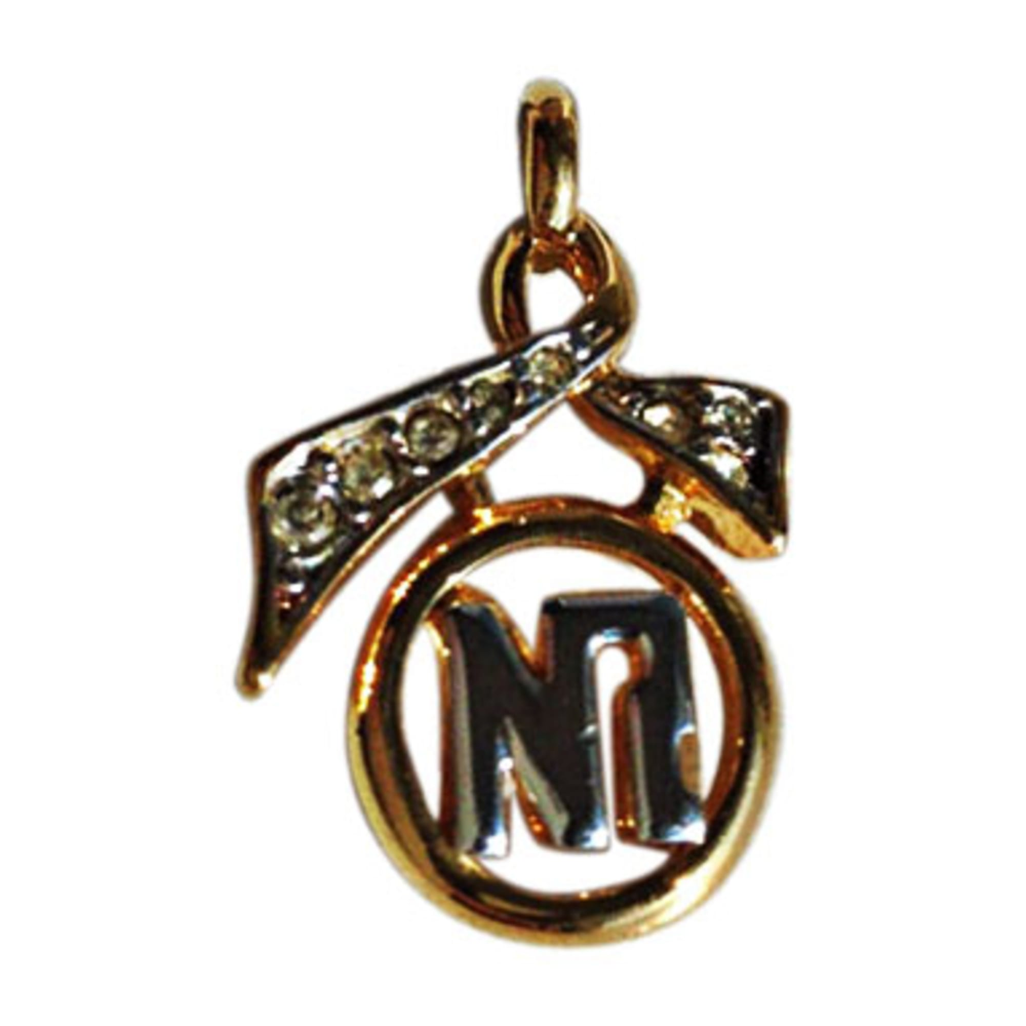 Pendentif, collier pendentif NINA RICCI Doré, bronze, cuivre