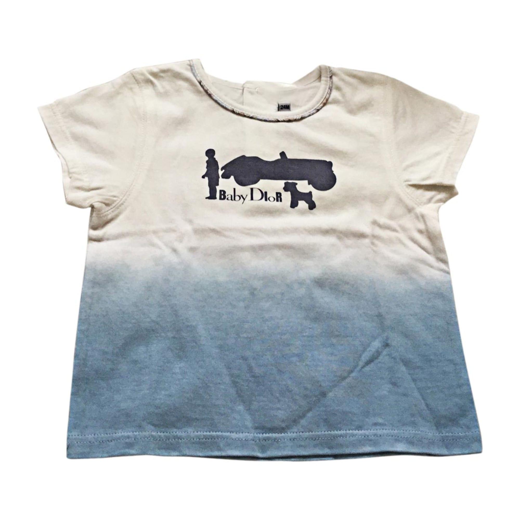 Tee-shirt BABY DIOR Bleu, bleu marine, bleu turquoise