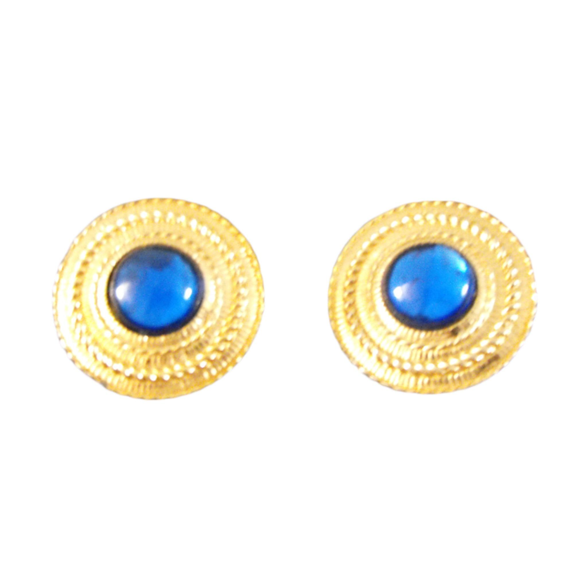 Boucles d'oreilles GIVENCHY céramique doré
