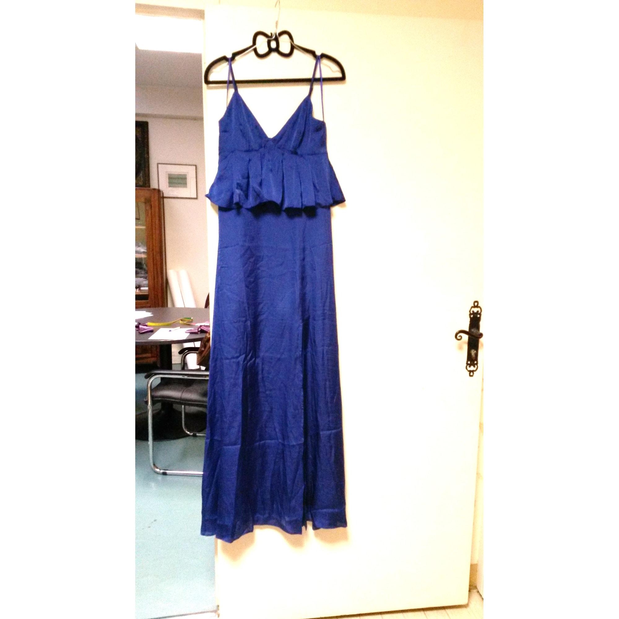 Robe longue ASOS Bleu, bleu marine, bleu turquoise
