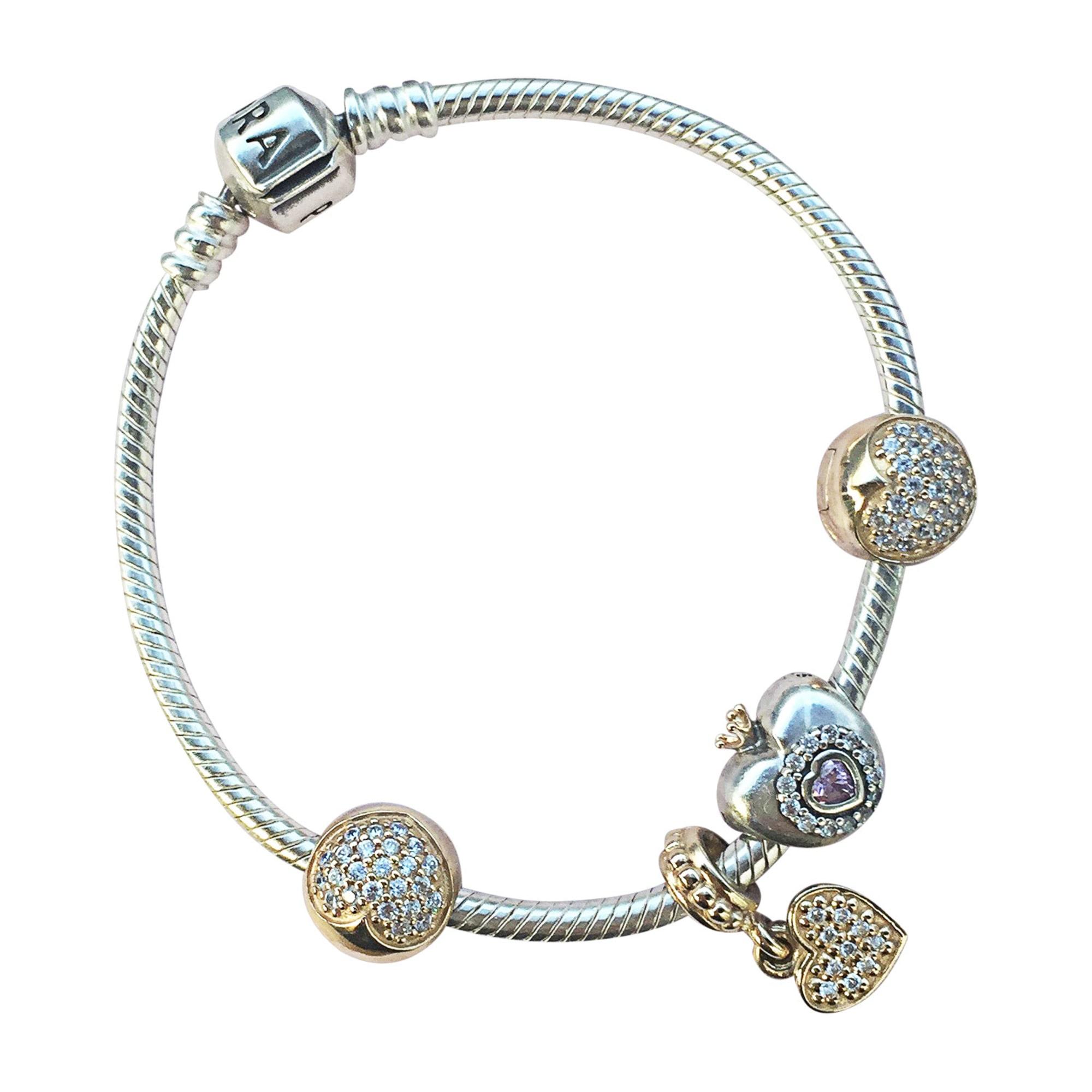 pandora bracelet femme or