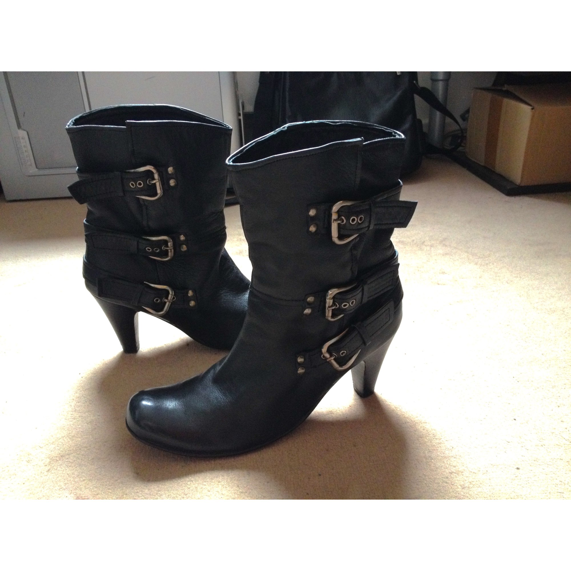 Bottines & low boots motards BEE FLY Noir