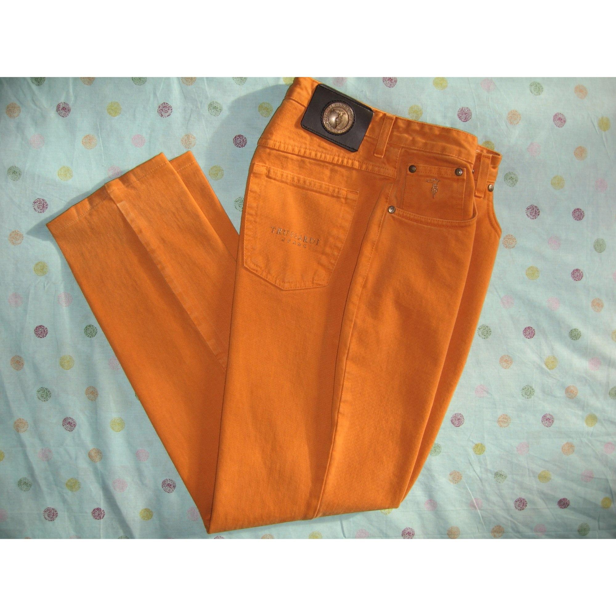 Pantalon droit TRUSSARDI JEANS Orange