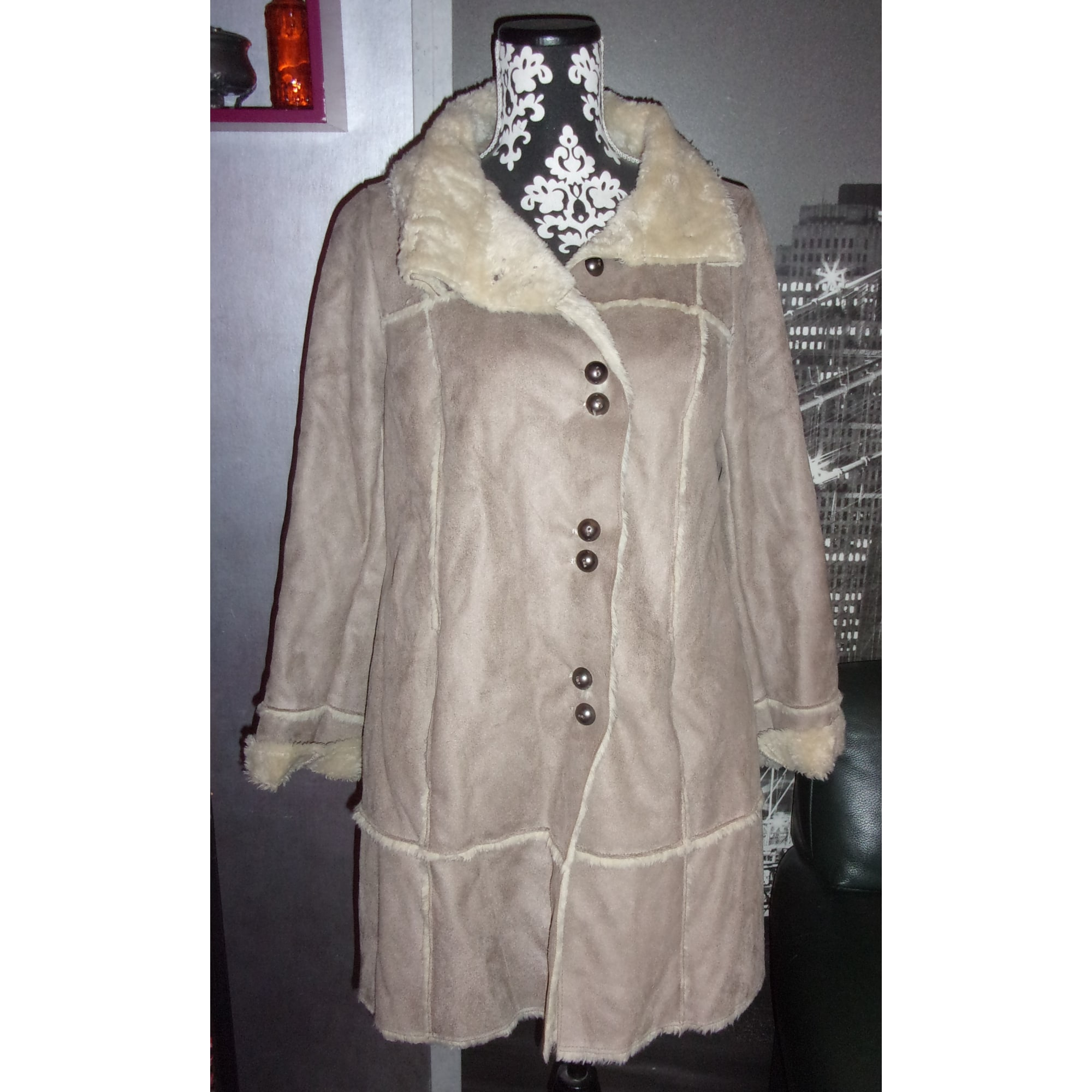 promod robe.pull beige 2011 coude
