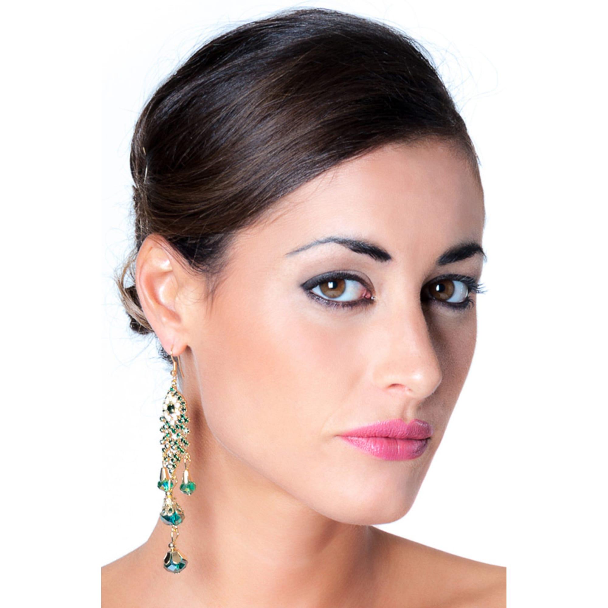 Boucles d'oreilles LUISA VANNINI zinc alloy vert