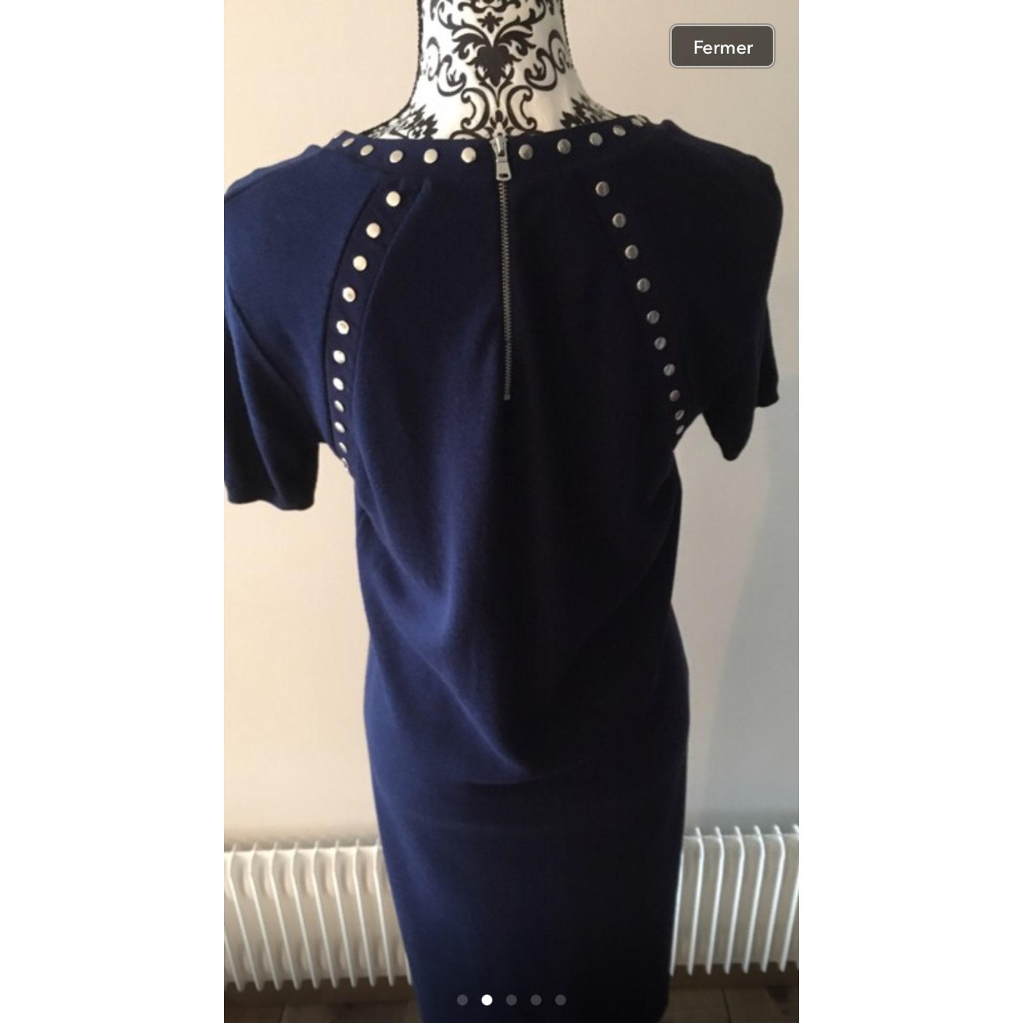 Robe pull ZAPA Bleu, bleu marine, bleu turquoise