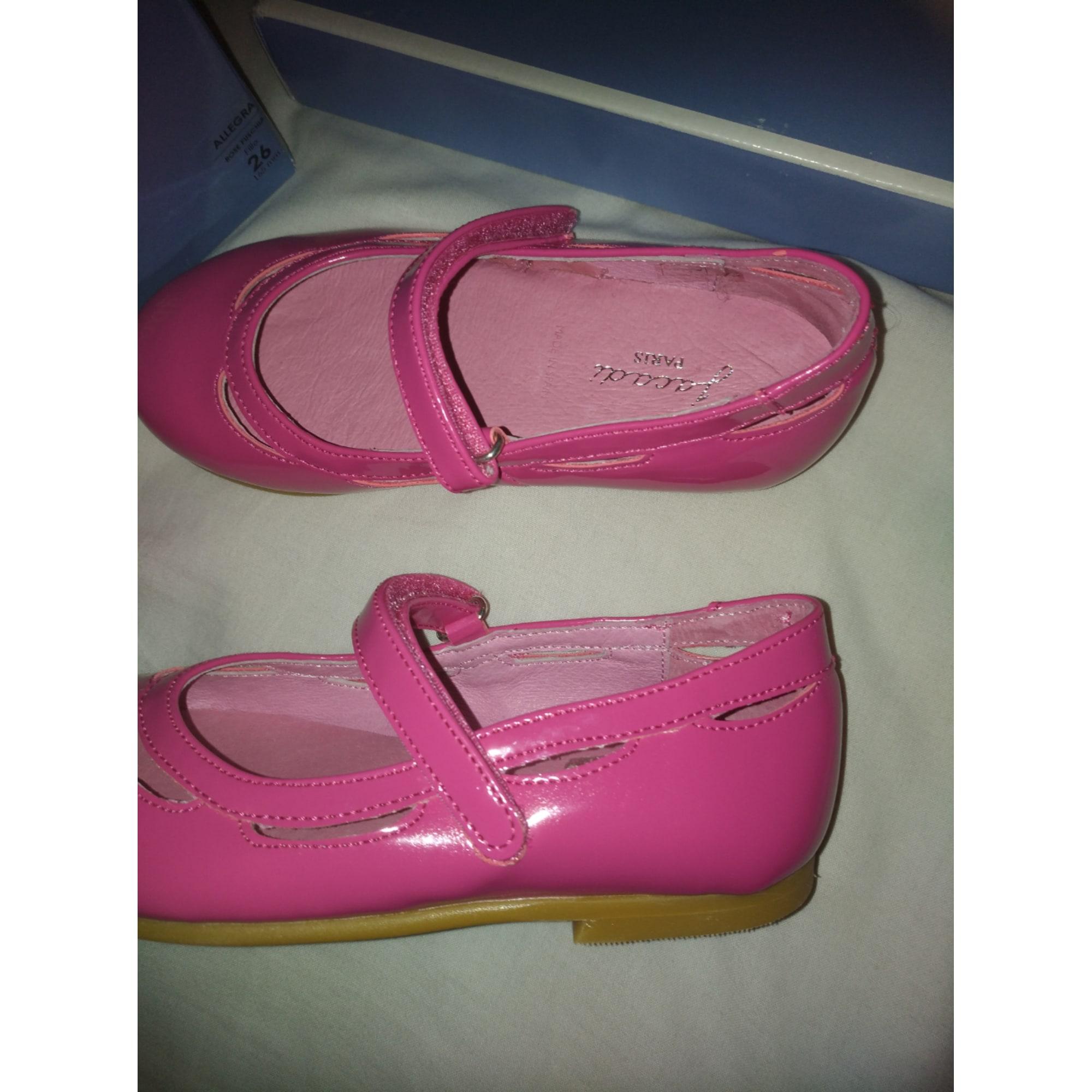 Chaussures à scratch JACADI Rose, fuschia, vieux rose